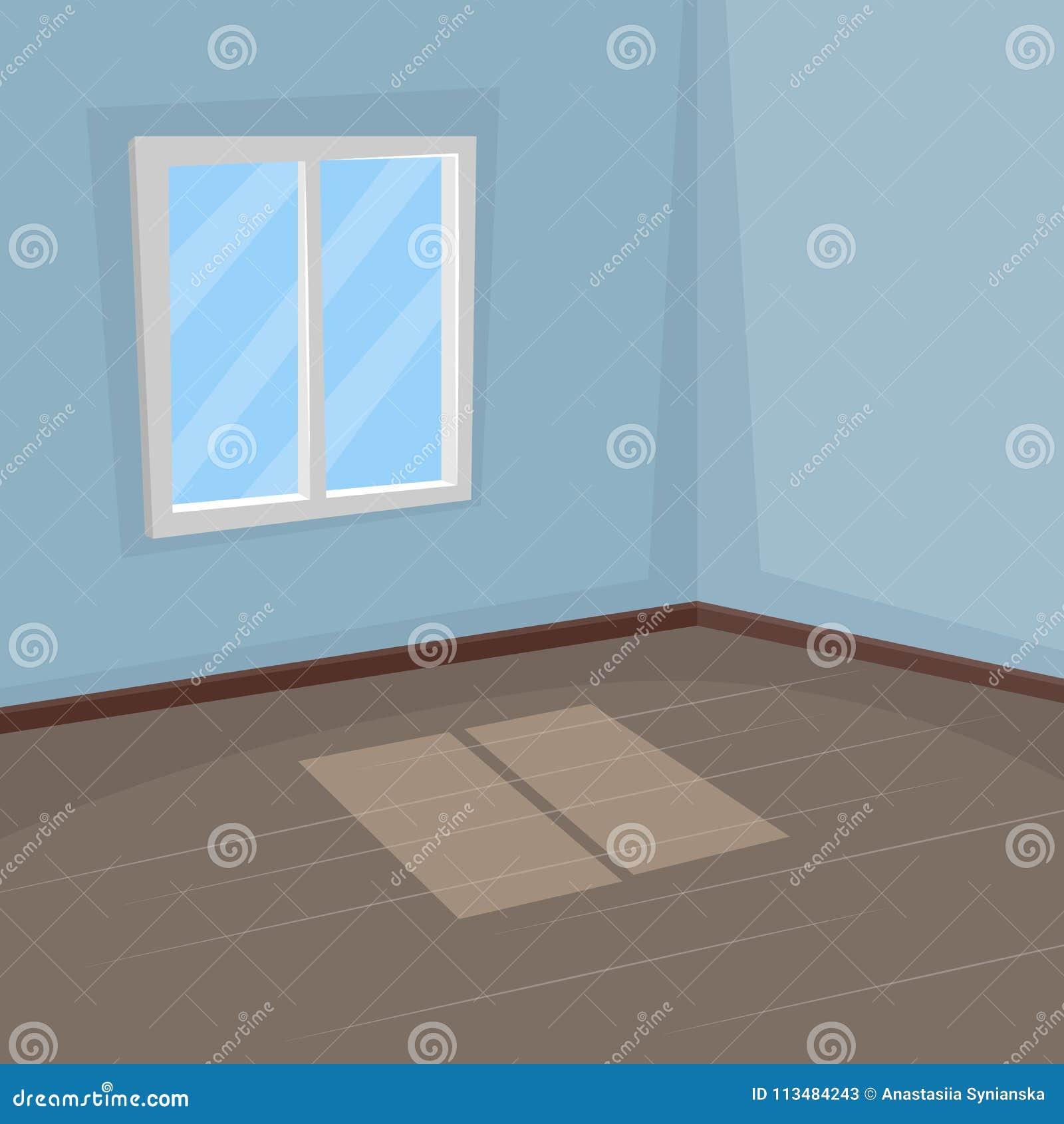 Pièce Vide Avec Une Fenêtre Perspective Illustration De
