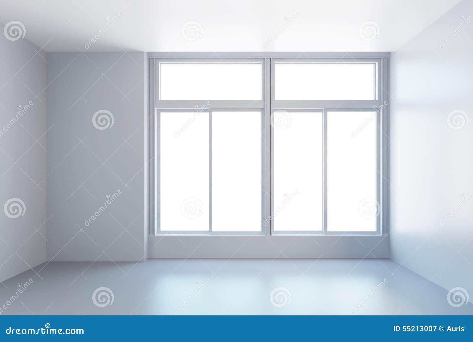 Pi ce vide blanche avec la fen tre photo stock image for Fenetre blanche
