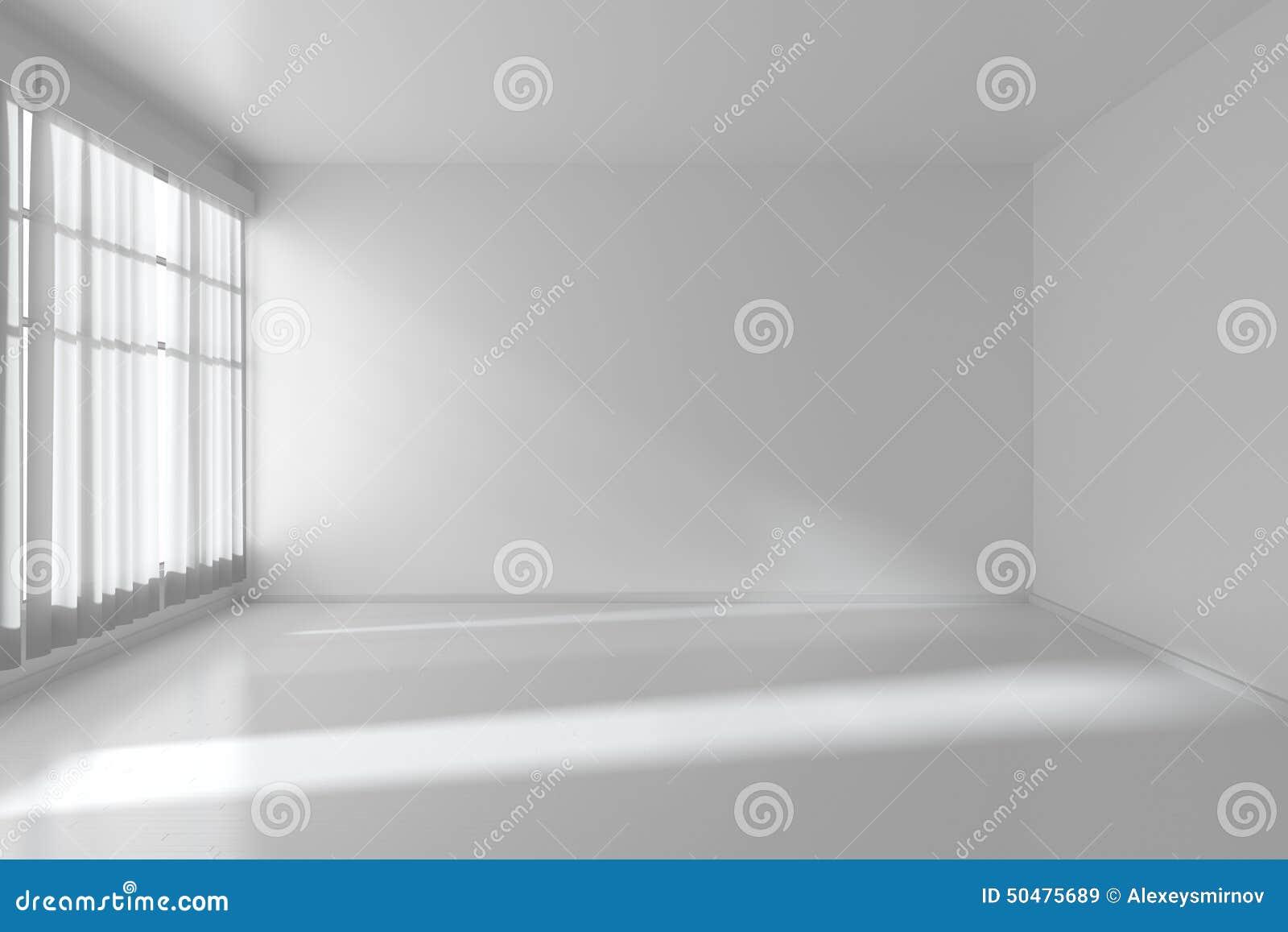 Pi Ce Vide Blanche Avec Les Murs Plats Plancher Blanc Et Fen Tre