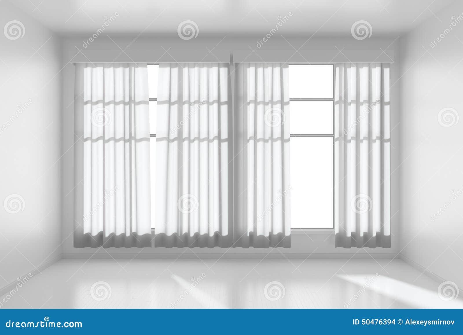 Pi Ce Vide Blanche Avec Les Murs Plats Plancher Blanc Et Fen Tre V
