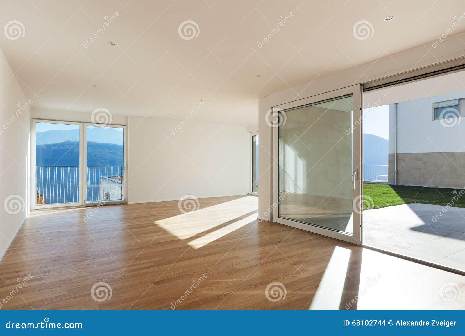 pi ce vide d 39 un appartement moderne photo stock image du int rieur appartement 68102744. Black Bedroom Furniture Sets. Home Design Ideas