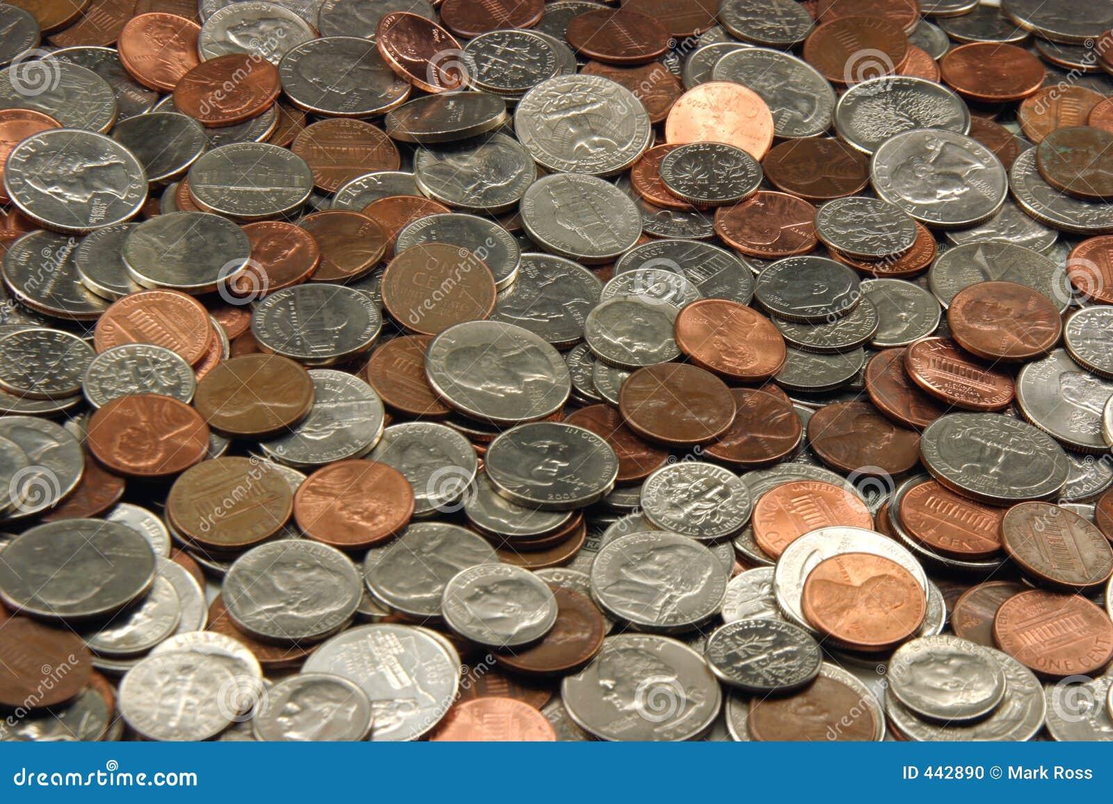 Pièces de monnaie assorties des USA