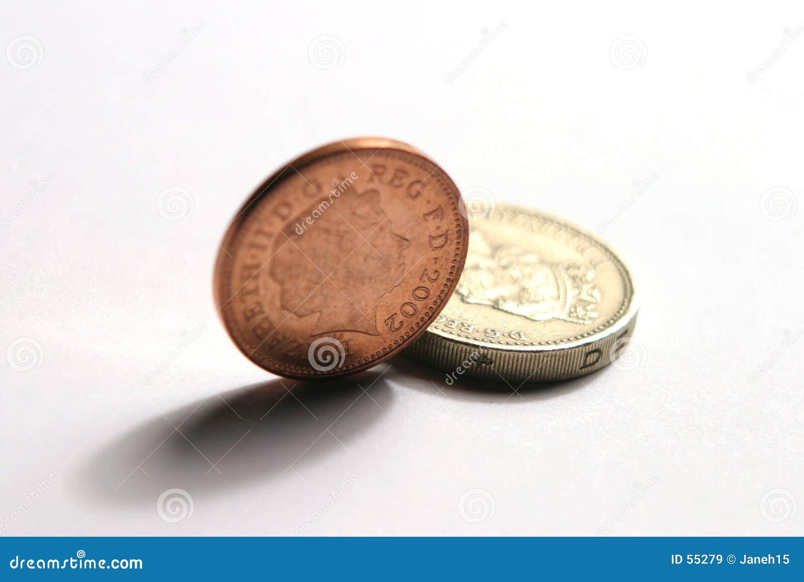 Download Pièces De Monnaie BRITANNIQUES Image stock - Image du finances, argent: 55279
