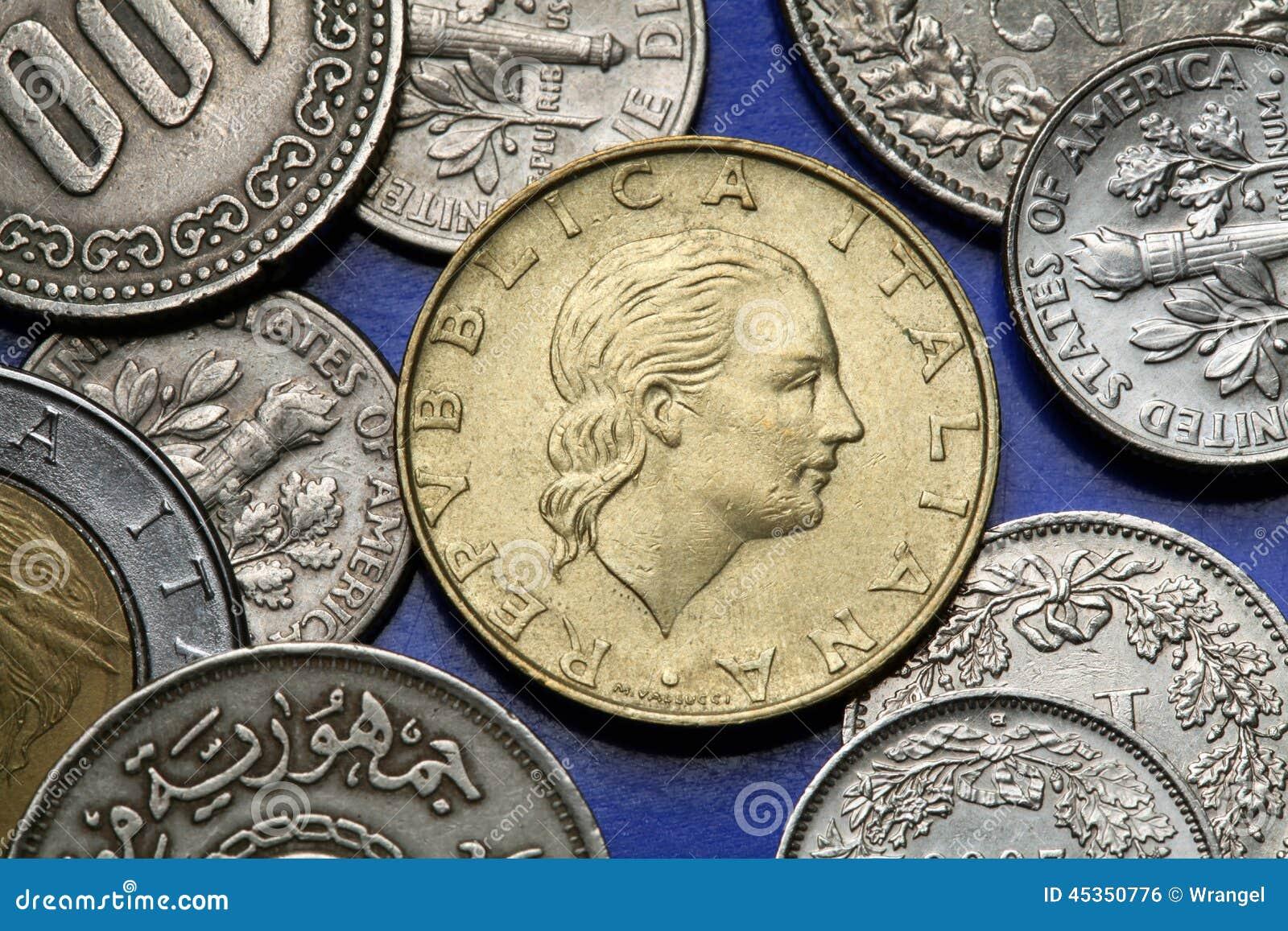 Pièces de monnaie de l Italie