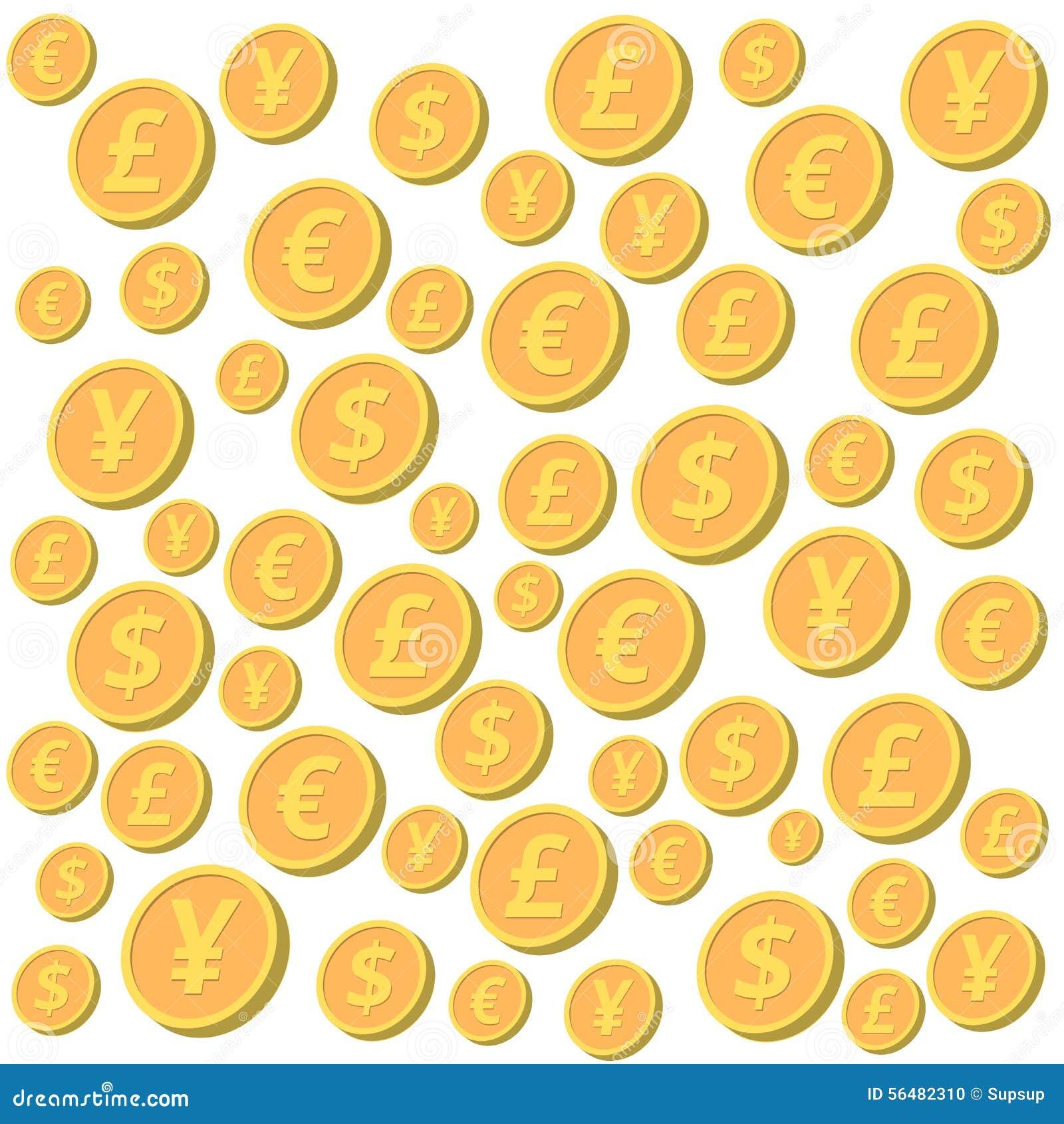 Pièces de monnaie en baisse