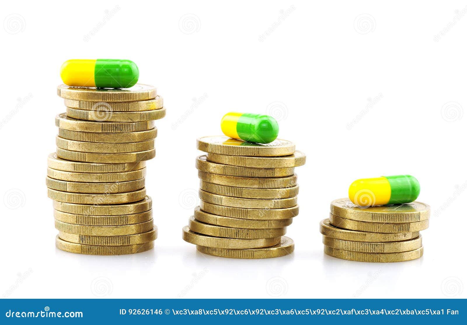 Pièces de monnaie et capsules, dépenses médicales
