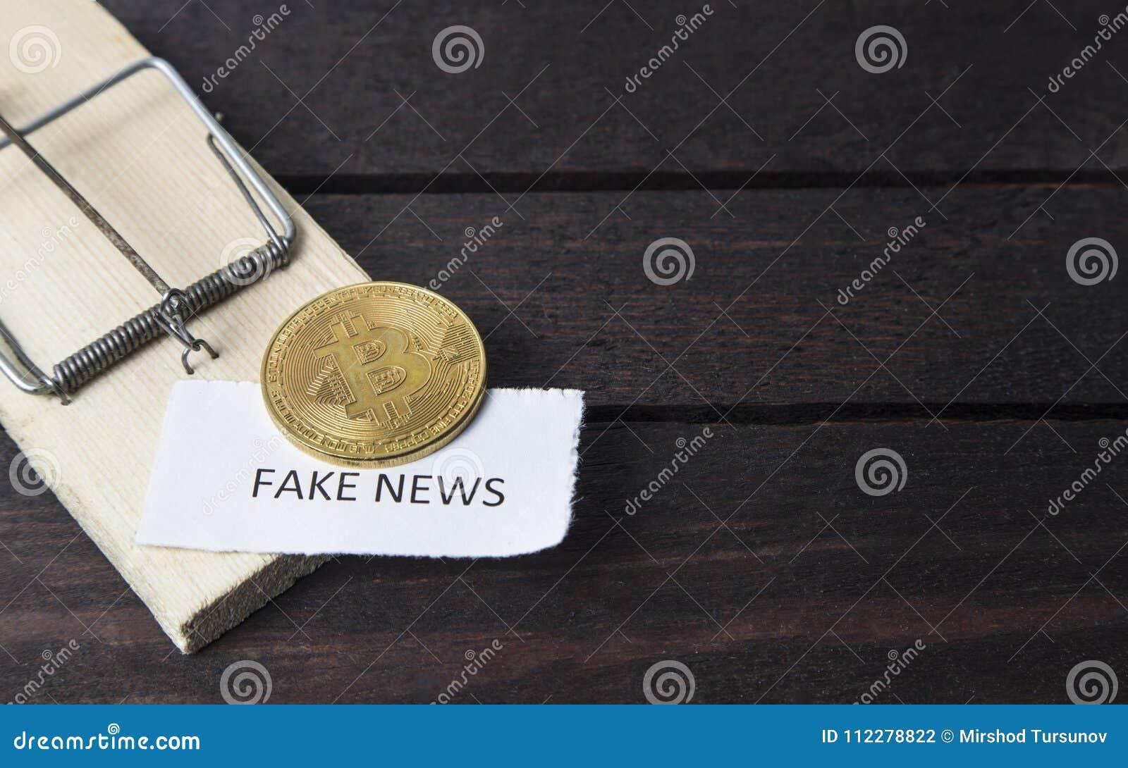 Piège de souris, bitcoin et le mot : fausses actualités