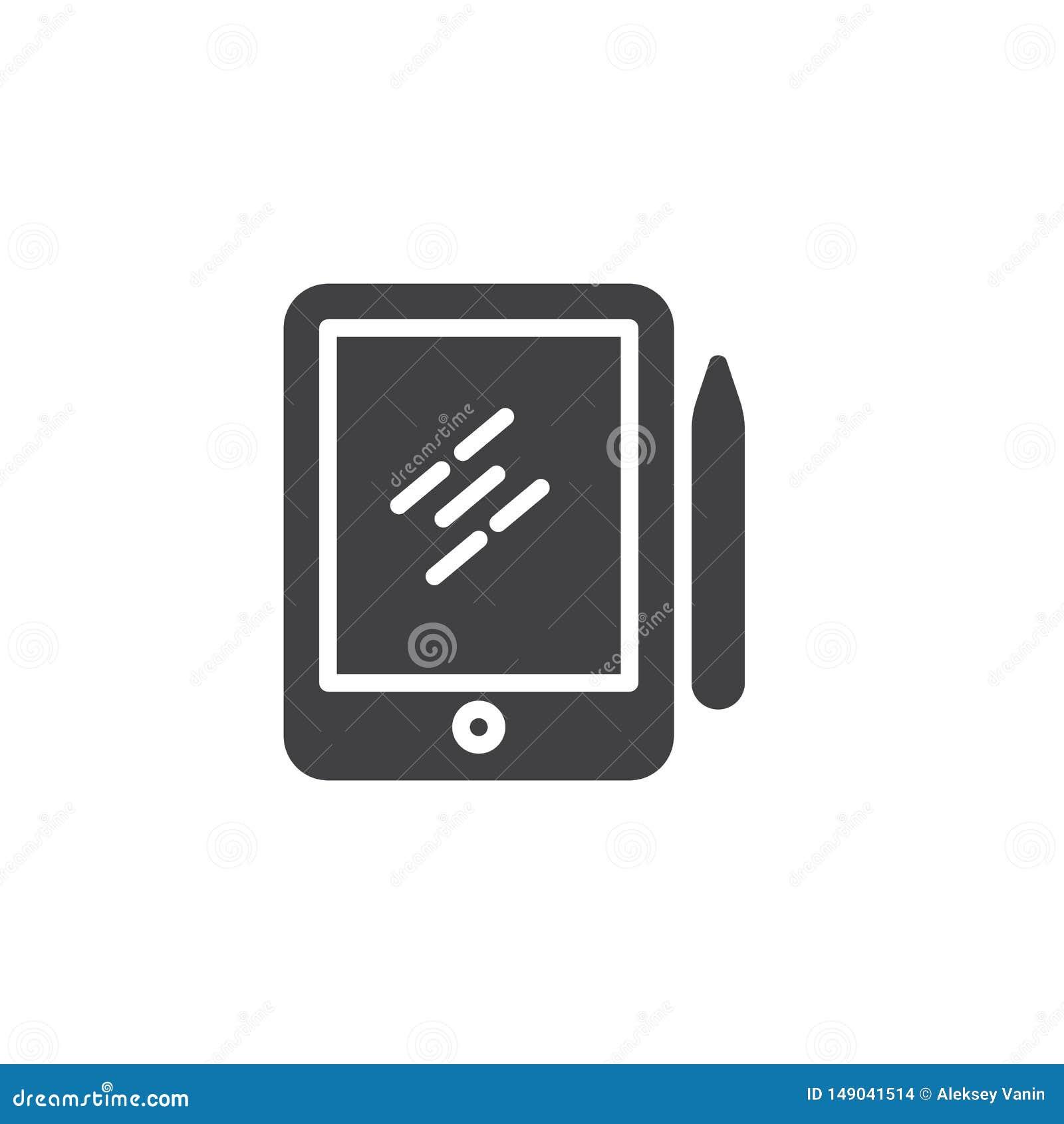 Pióro pastylki digitizer wektoru Rysunkowa ikona
