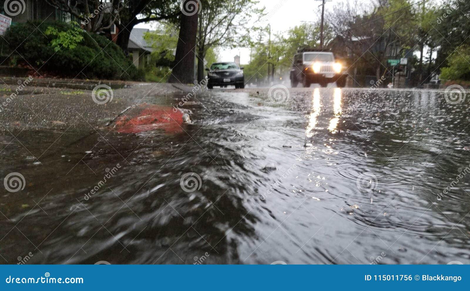 Piątkowej nocy ulewa w Oakland