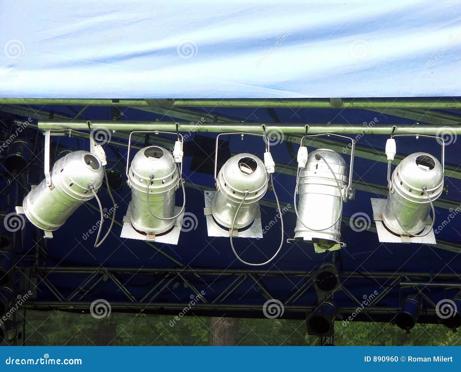 Pięć światła reflektorów