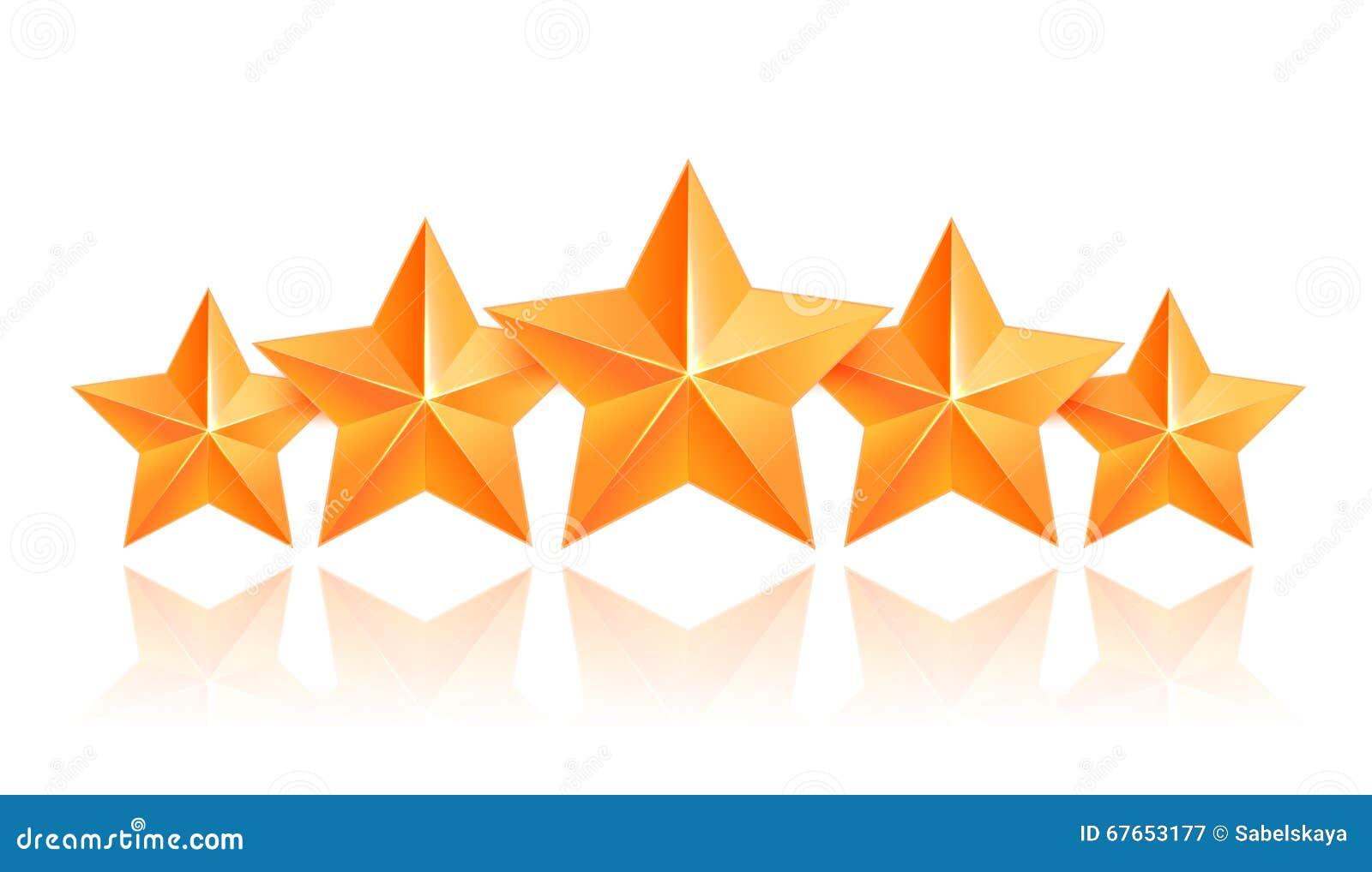 Pięć 3d złota gwiazd premia Najlepszy nagroda