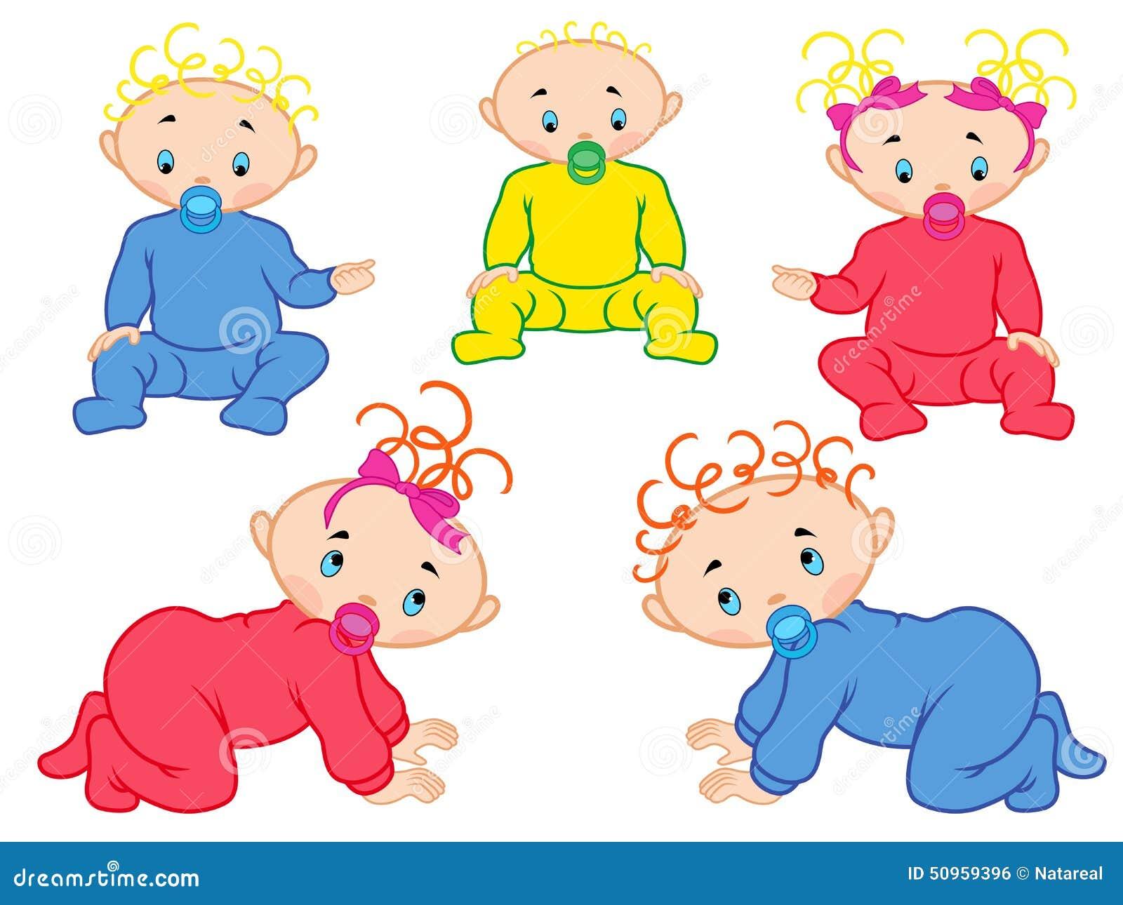 Pięć dzieci odizolowywających na białym tle