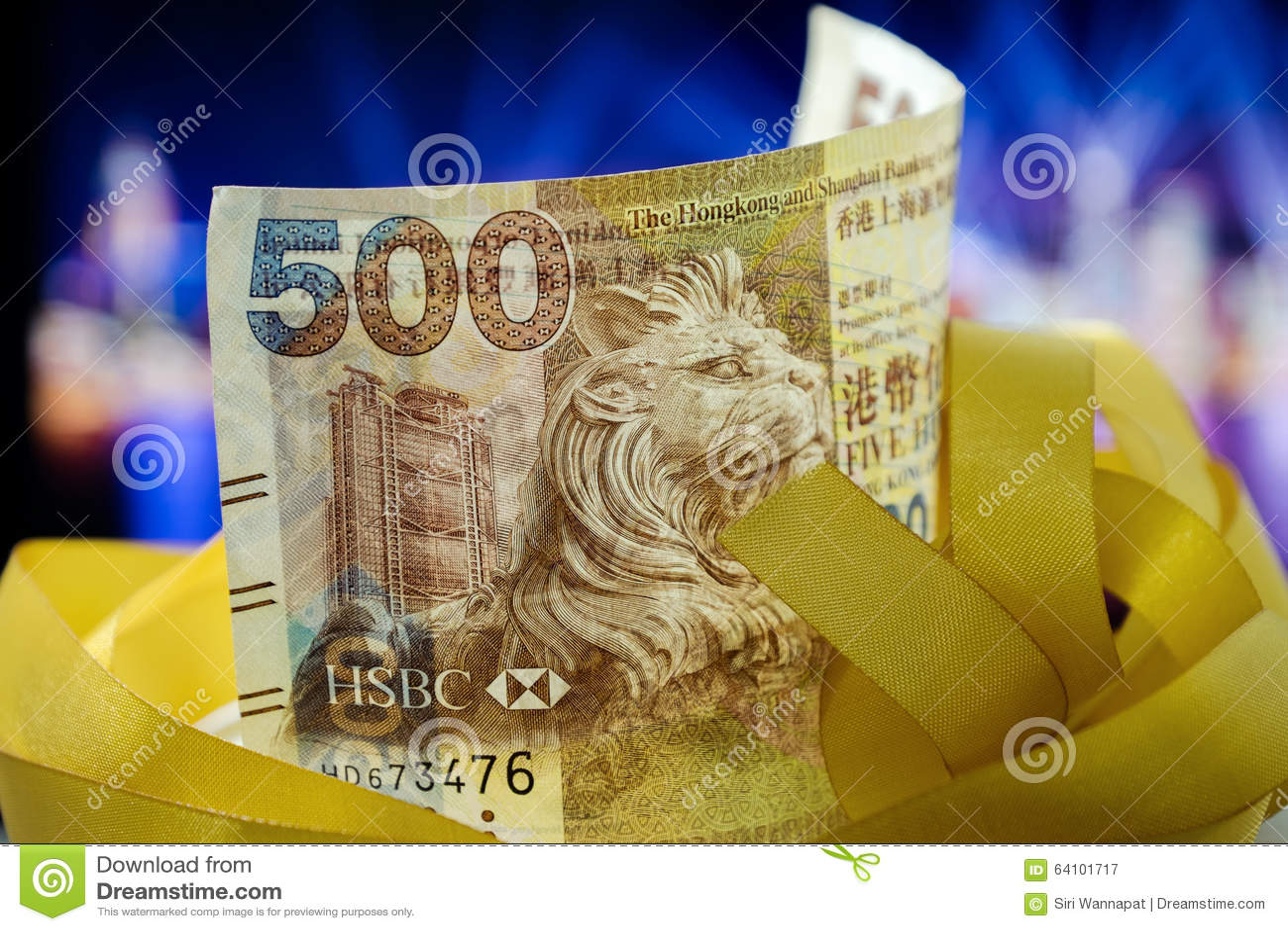 Pięćset dolarów Hong Kong, Hong Kong pieniądze, Hong Kong Świętują Lekkiego przedstawienie