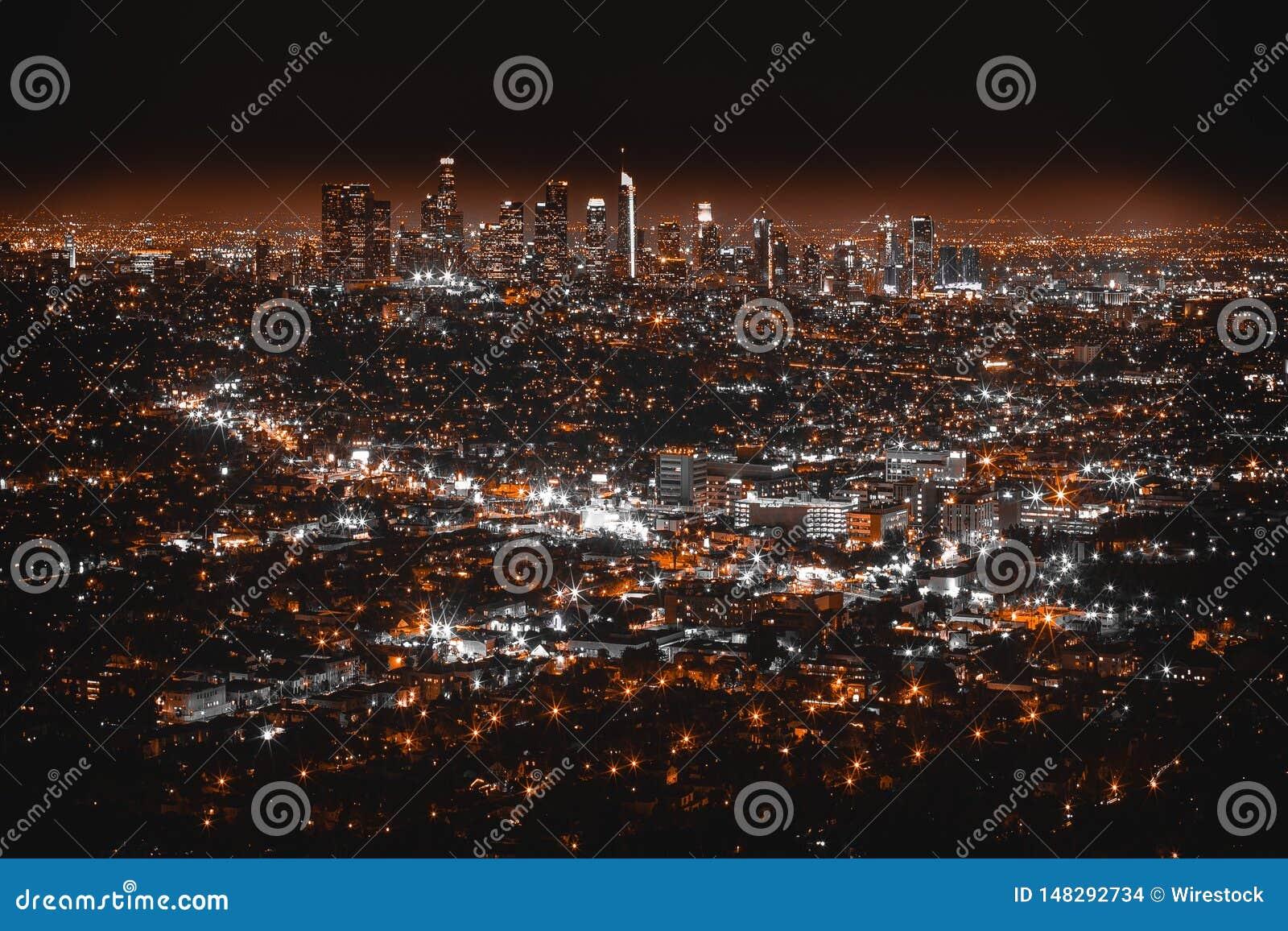 Piękna antena strzelająca Los Angeles