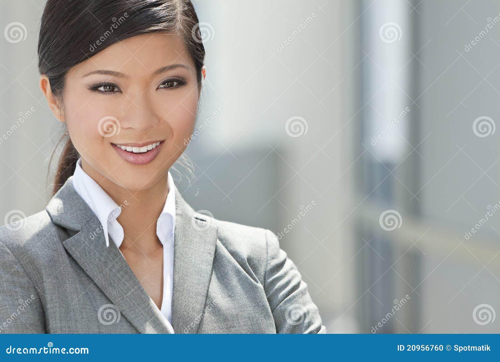 Piękna Azjatycka Chińska Kobieta lub Bizneswoman