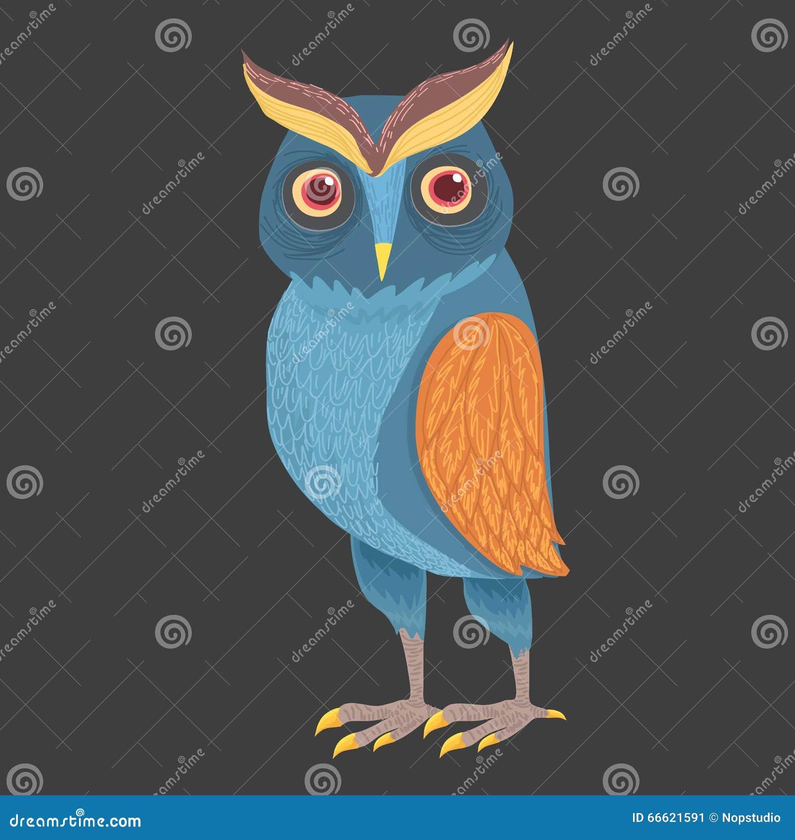 Piękna błękitna sowa