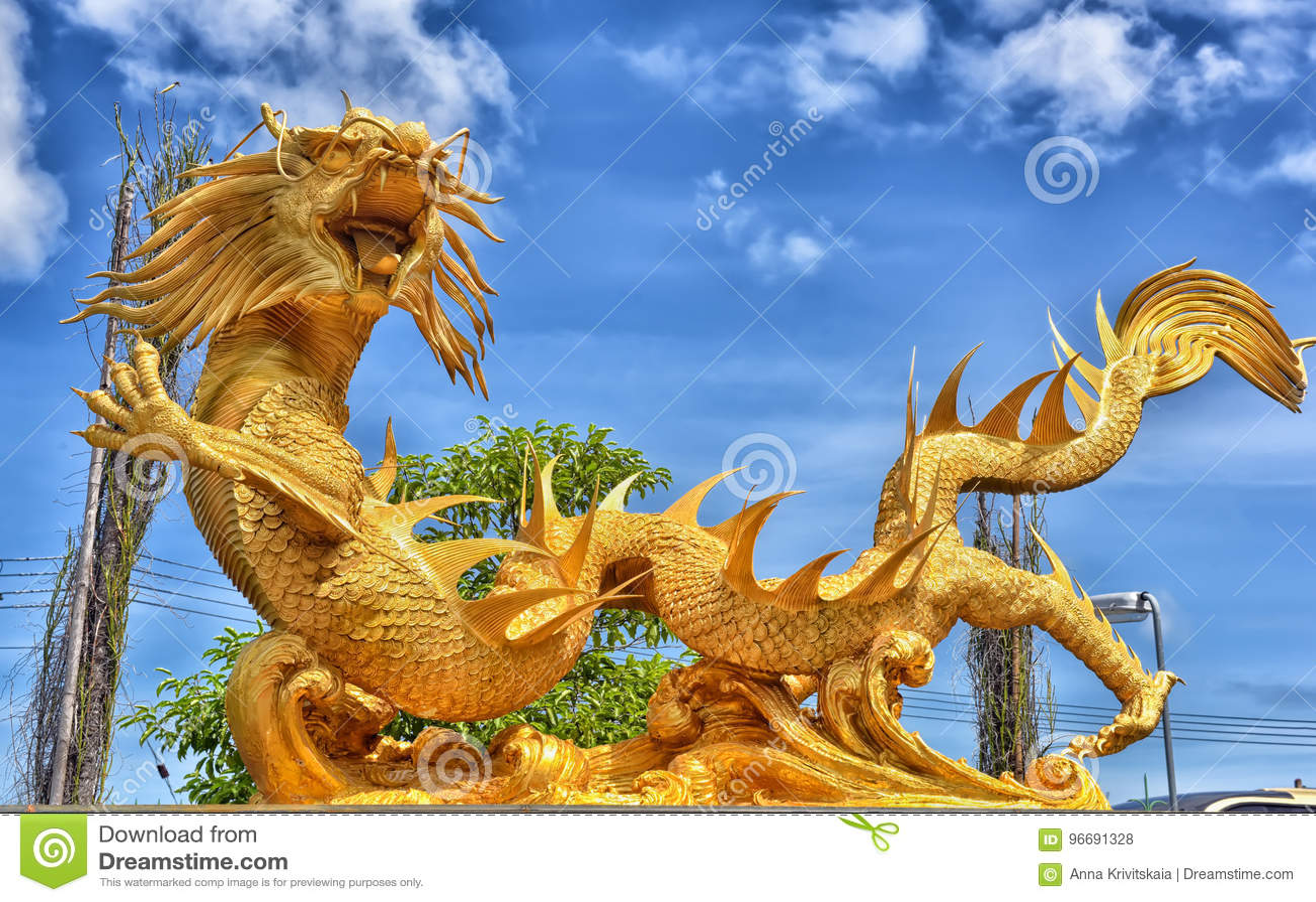 Piękna Chińska smok rzeźba