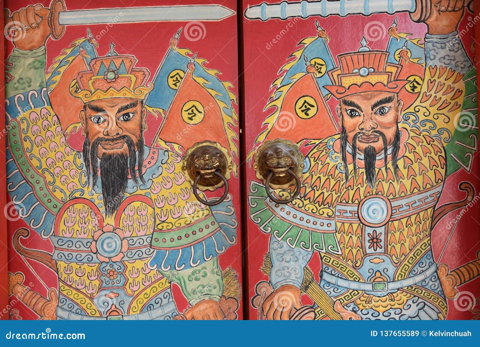 Piękna Chińska wojownik ściana