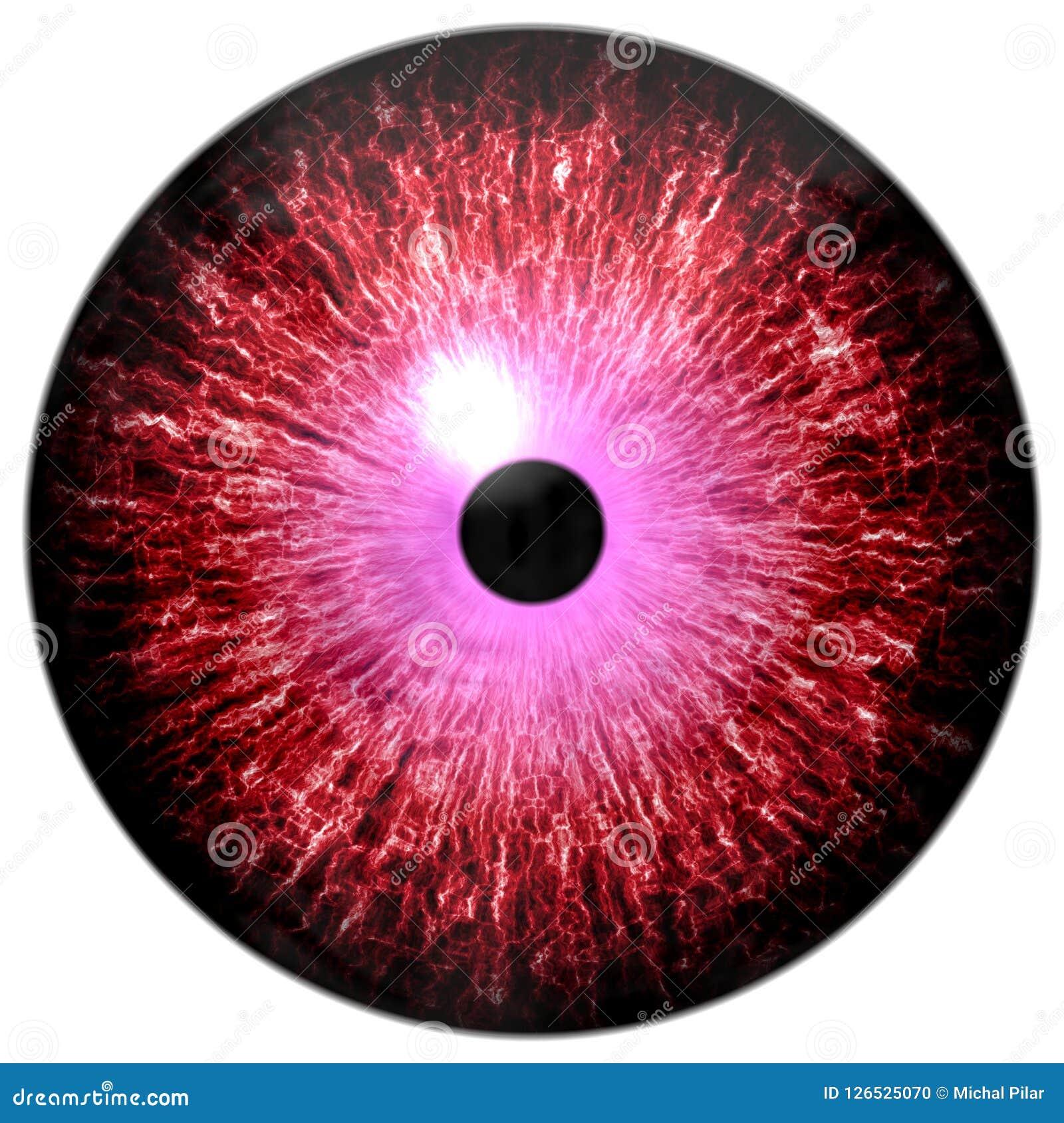 Piękna czerwień i purpurowa round 3d Halloween gałka oczna