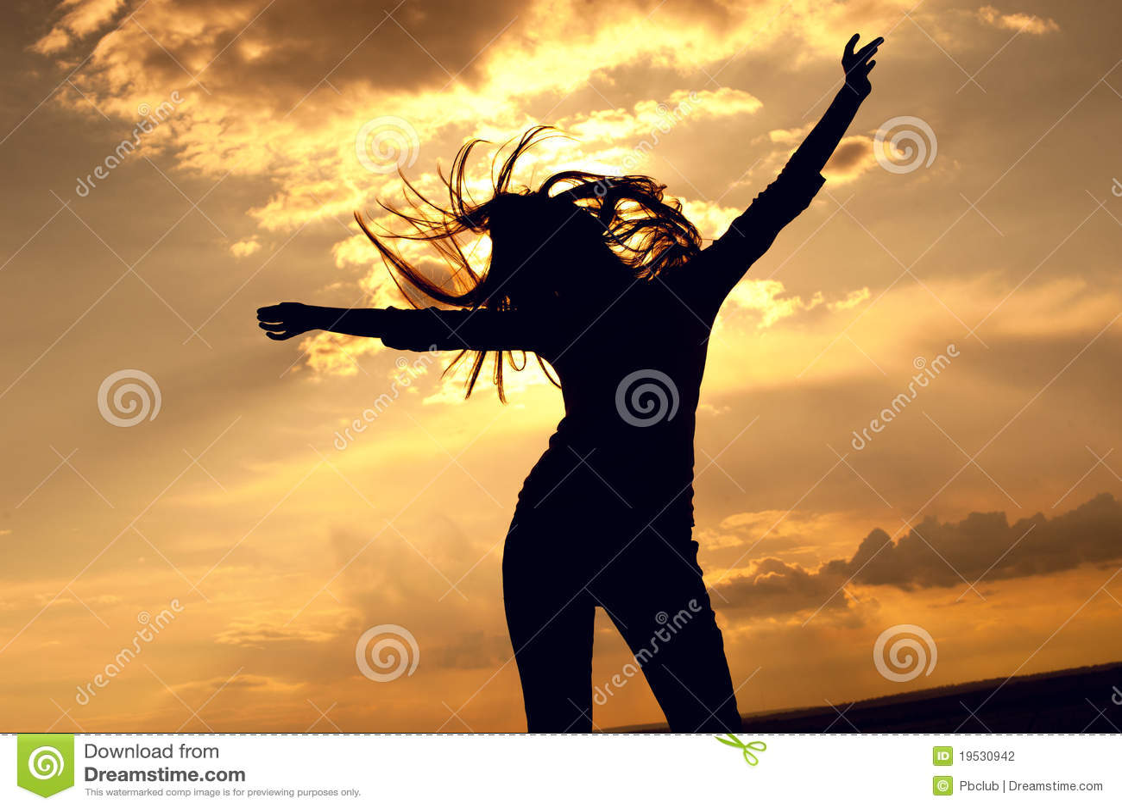 Piękna dancingowa seksowna kobieta