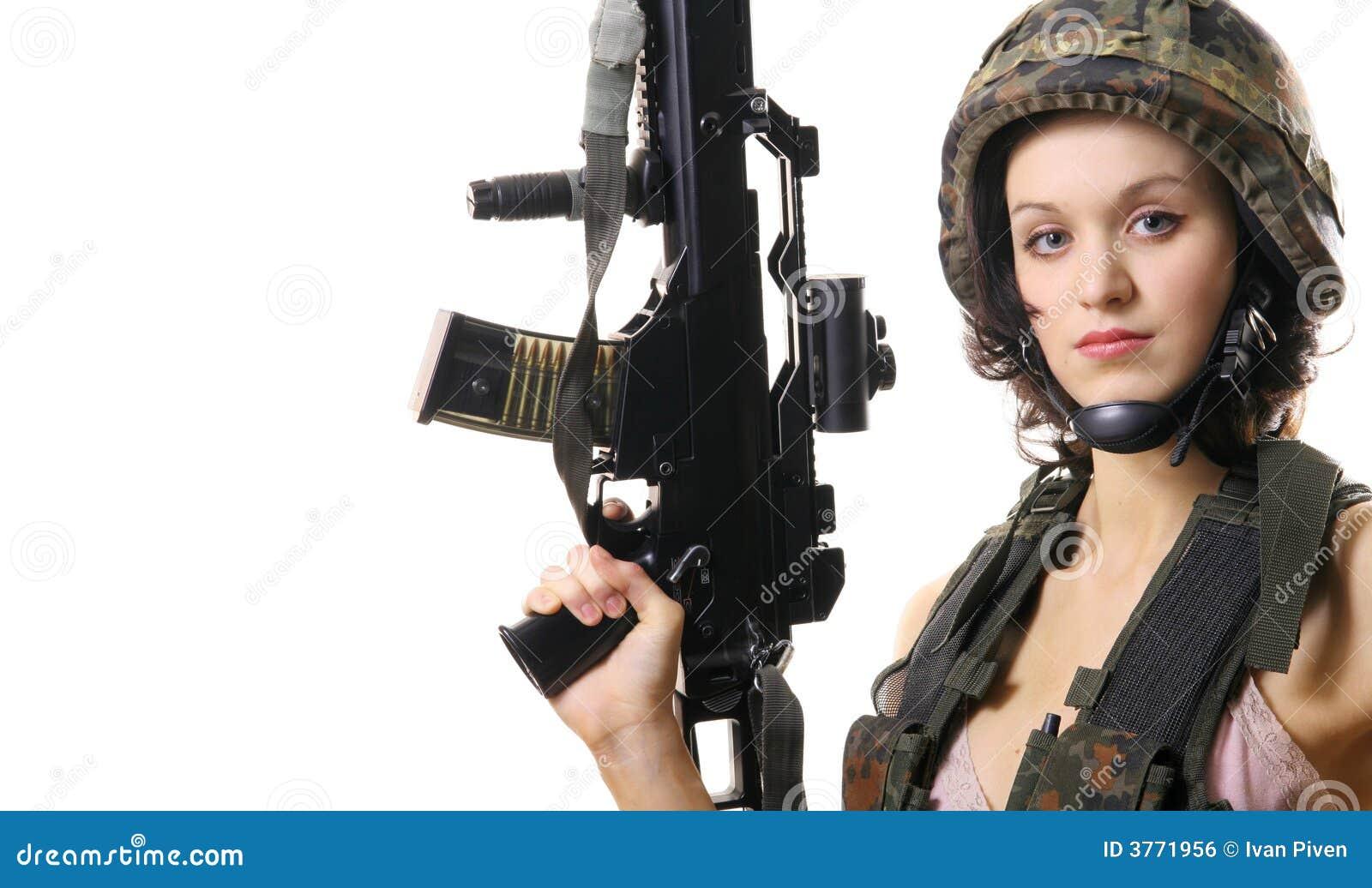 Piękna dziewczyna broń