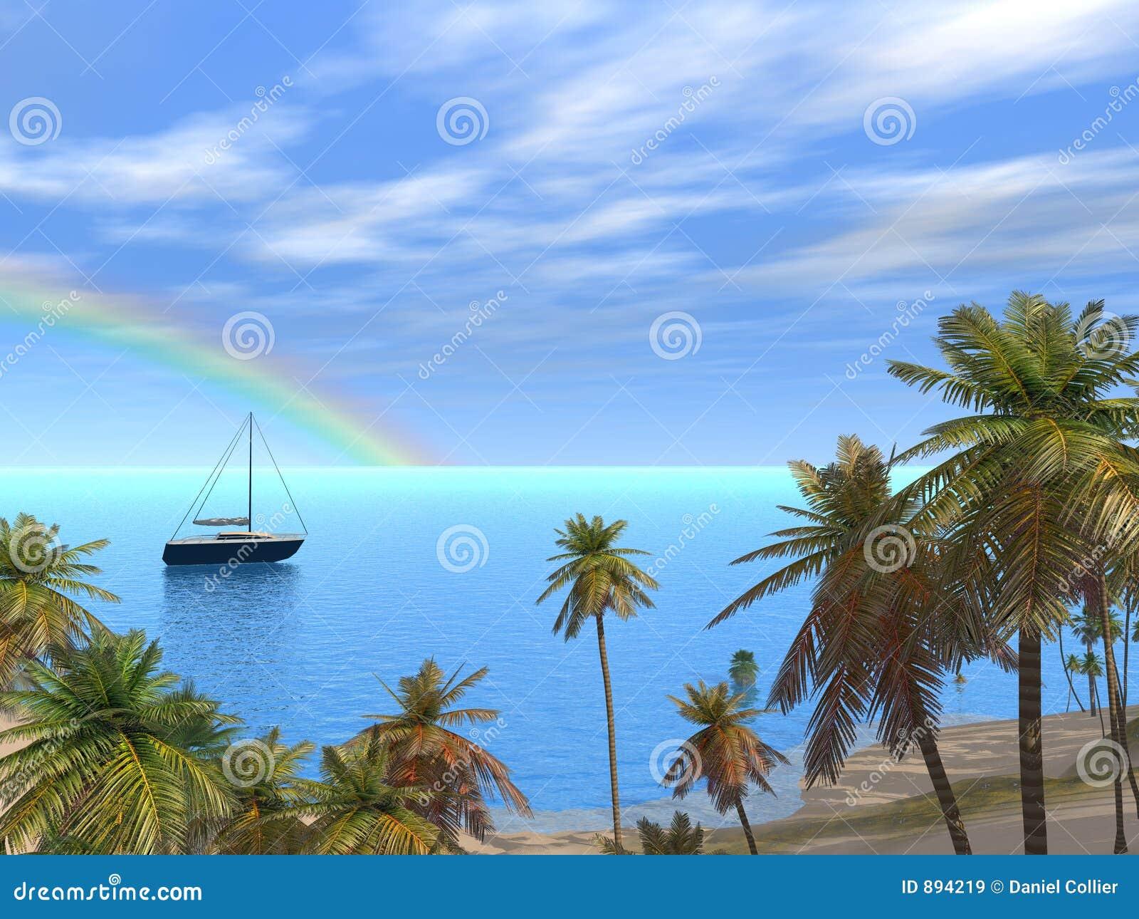 Piękna karaibska laguna
