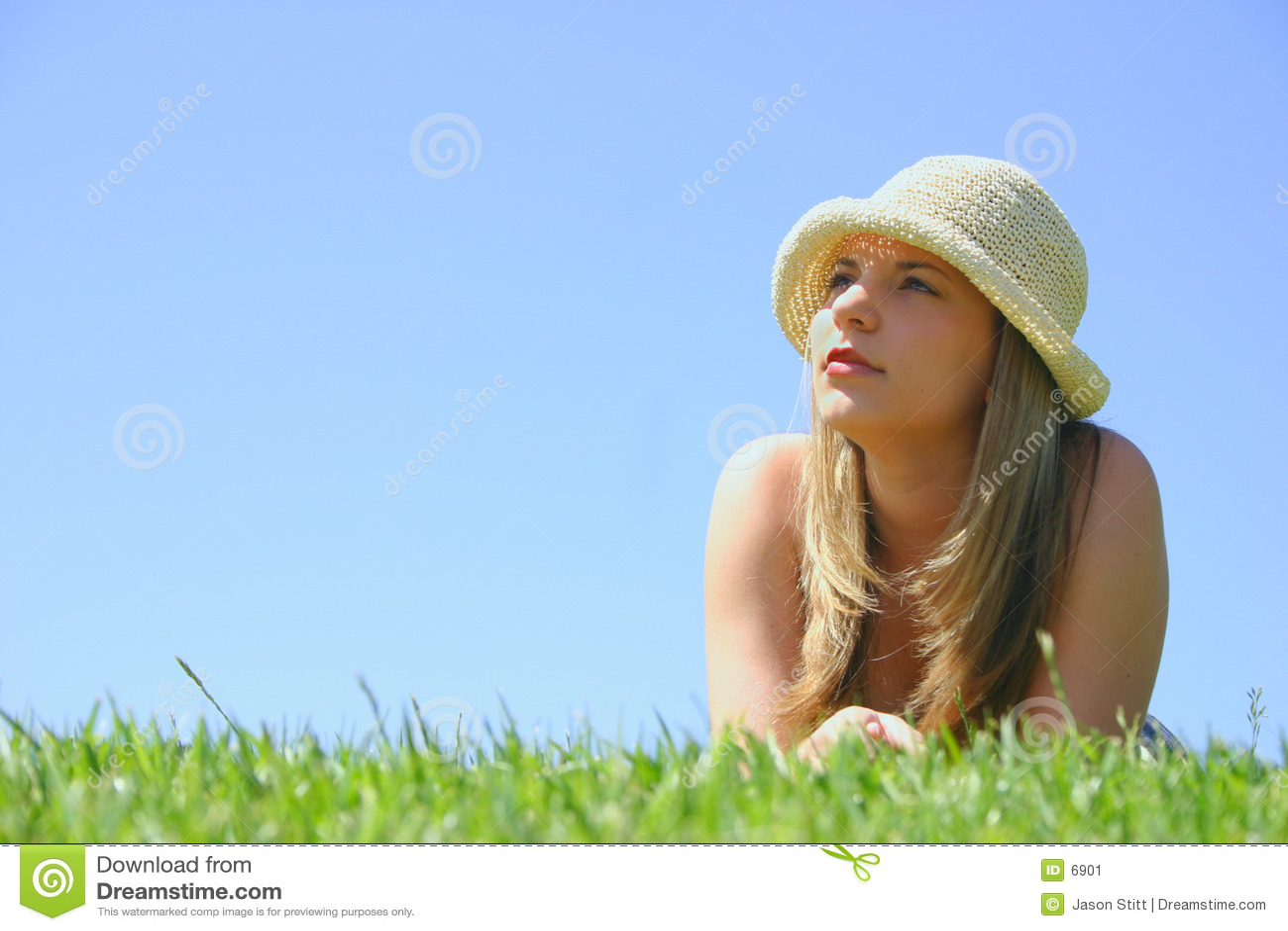 Piękna kobieta hat