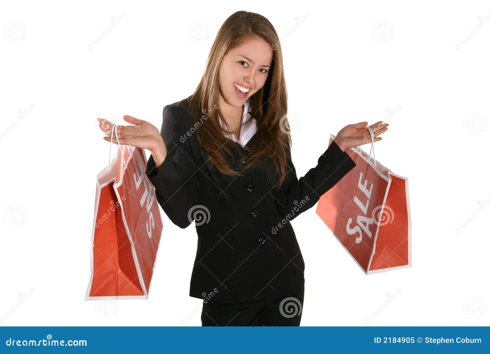 Piękna kobieta na zakupy