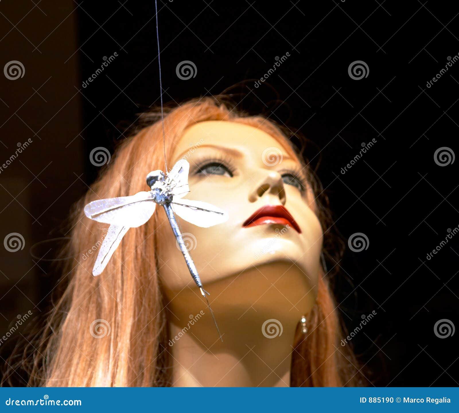 Piękna kobieta ważka