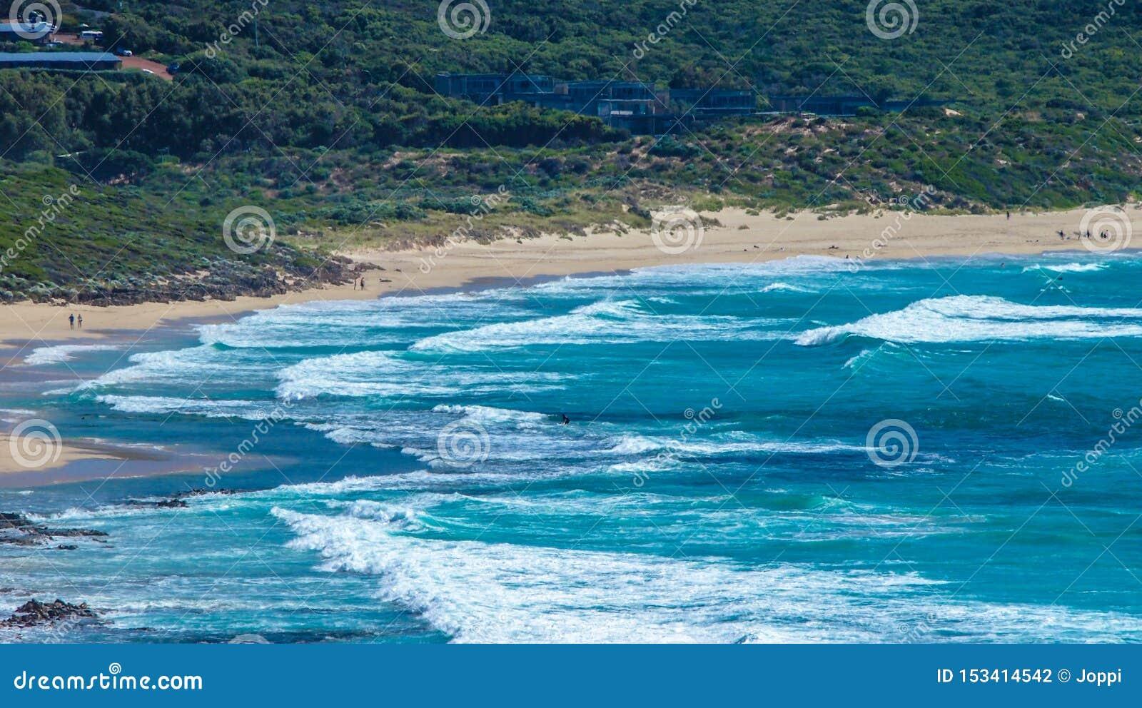 Piękna linia brzegowa blisko Margaret rzeki w zachodniej australii