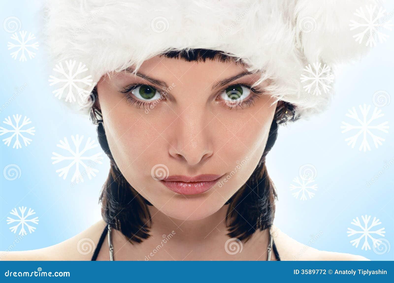 Piękna pani Santa Claus