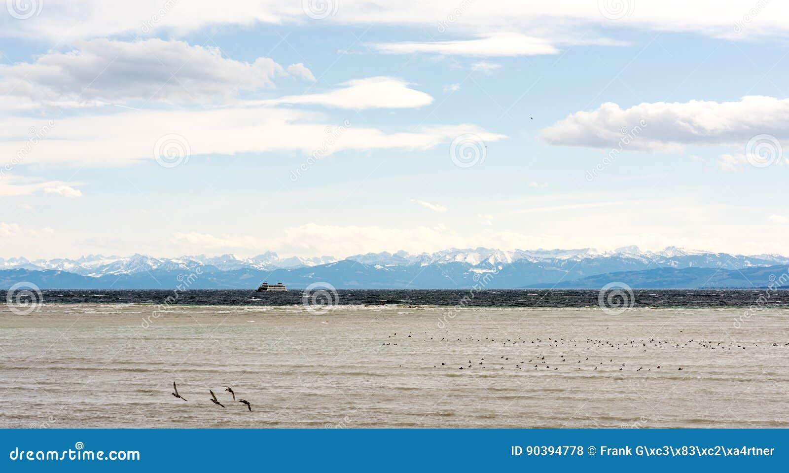 Piękna panorama przy Jeziornym Constance