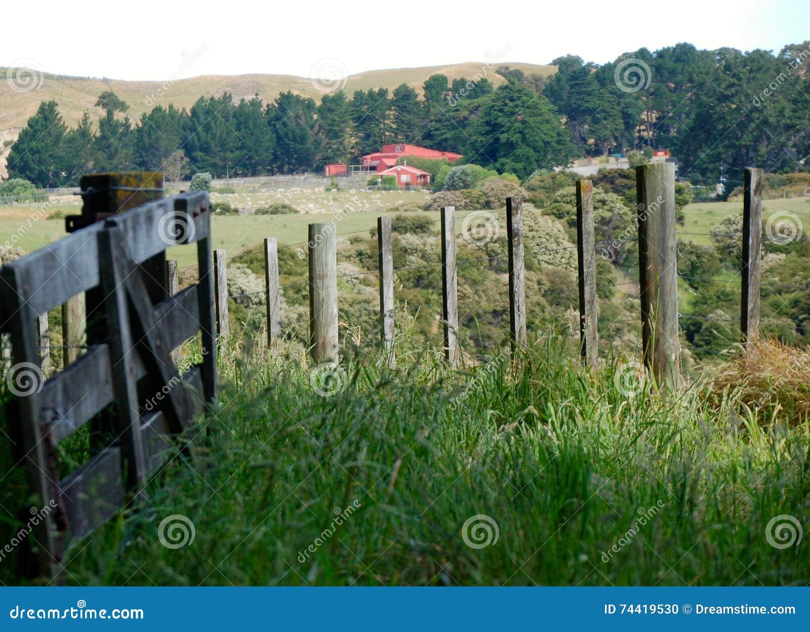 Piękna sceneria, ziemia uprawna, wieśniaka krajobraz