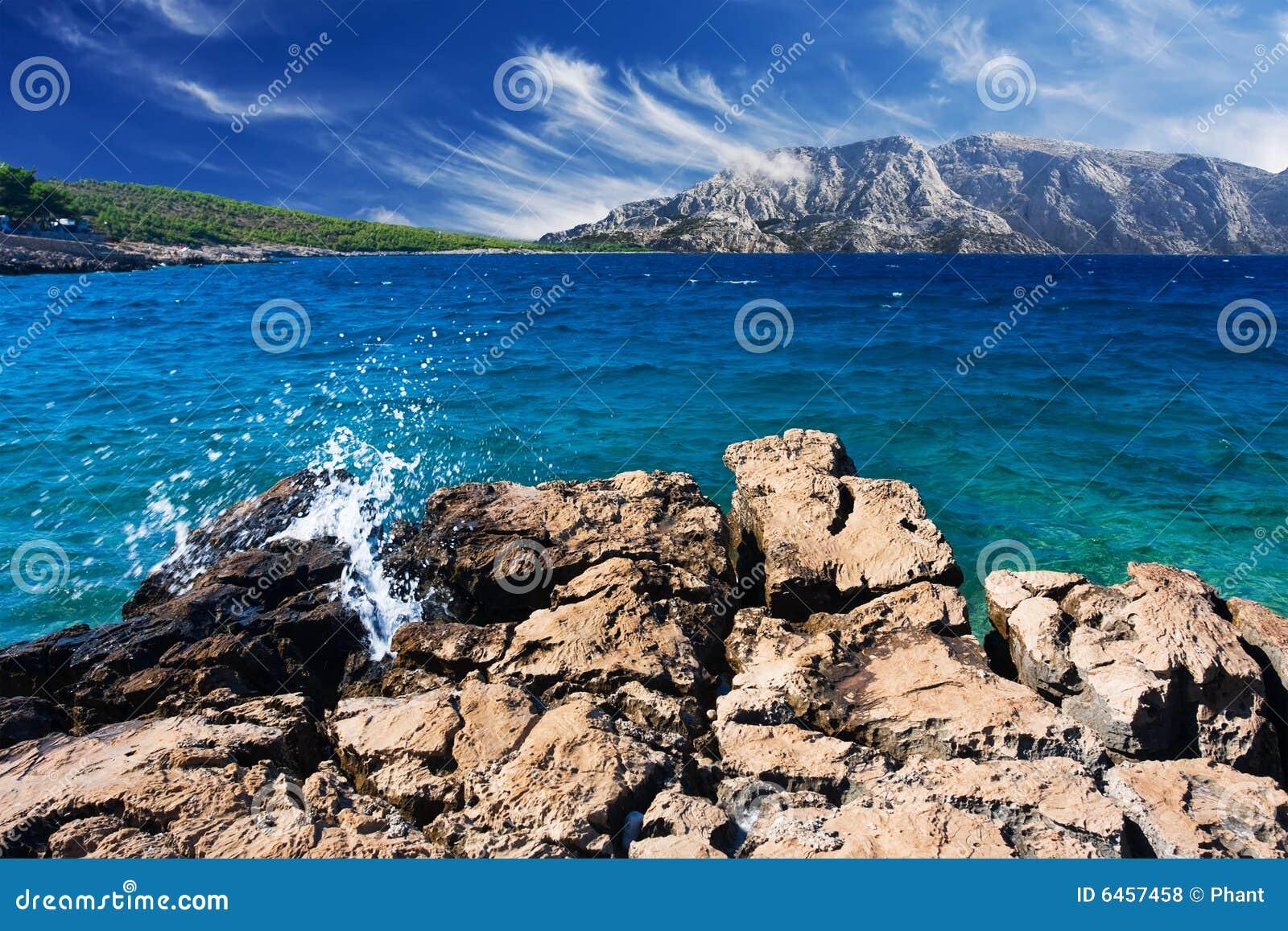 Piękna seashore