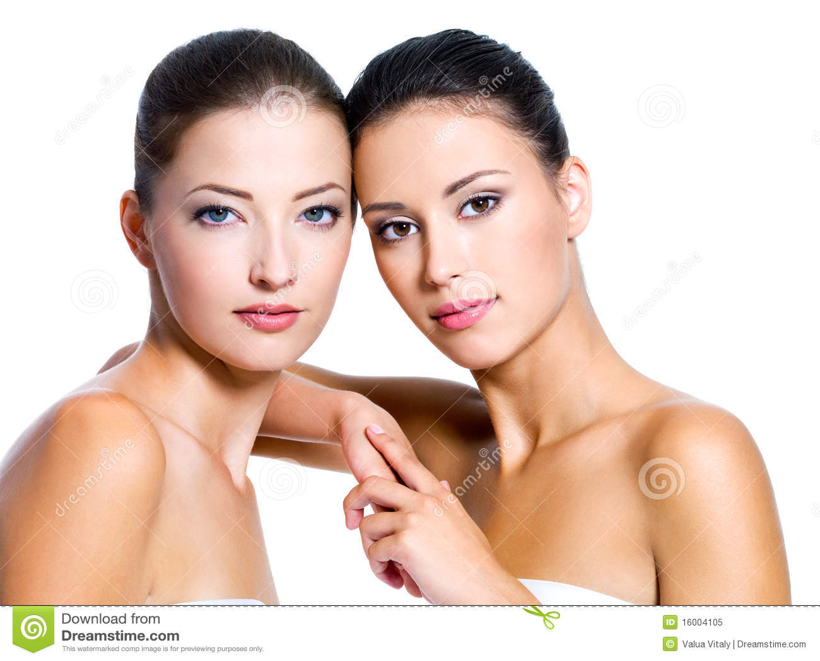 Piękna seksowna dwa kobiety