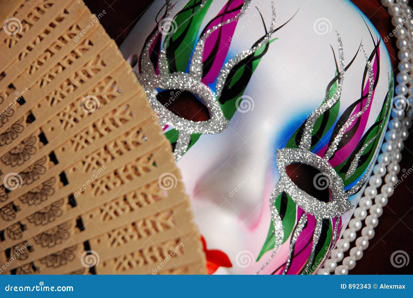 Piękna twarz orientalna konceptualna