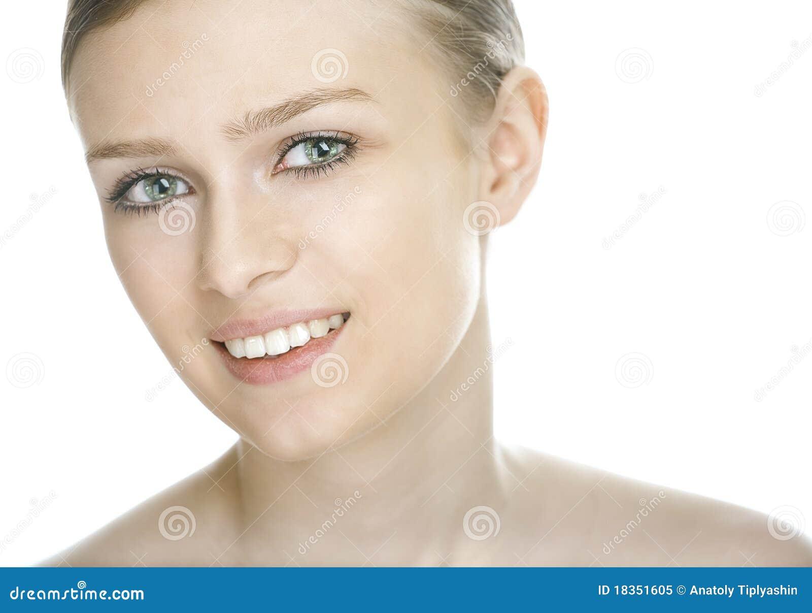 Piękna twarzy kobieta