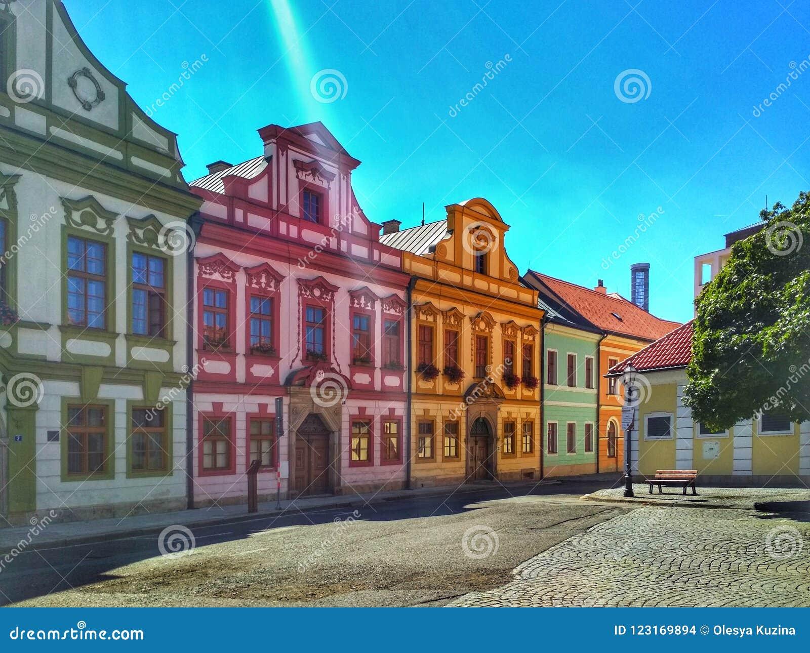 Piękna ulica Europejski miasto