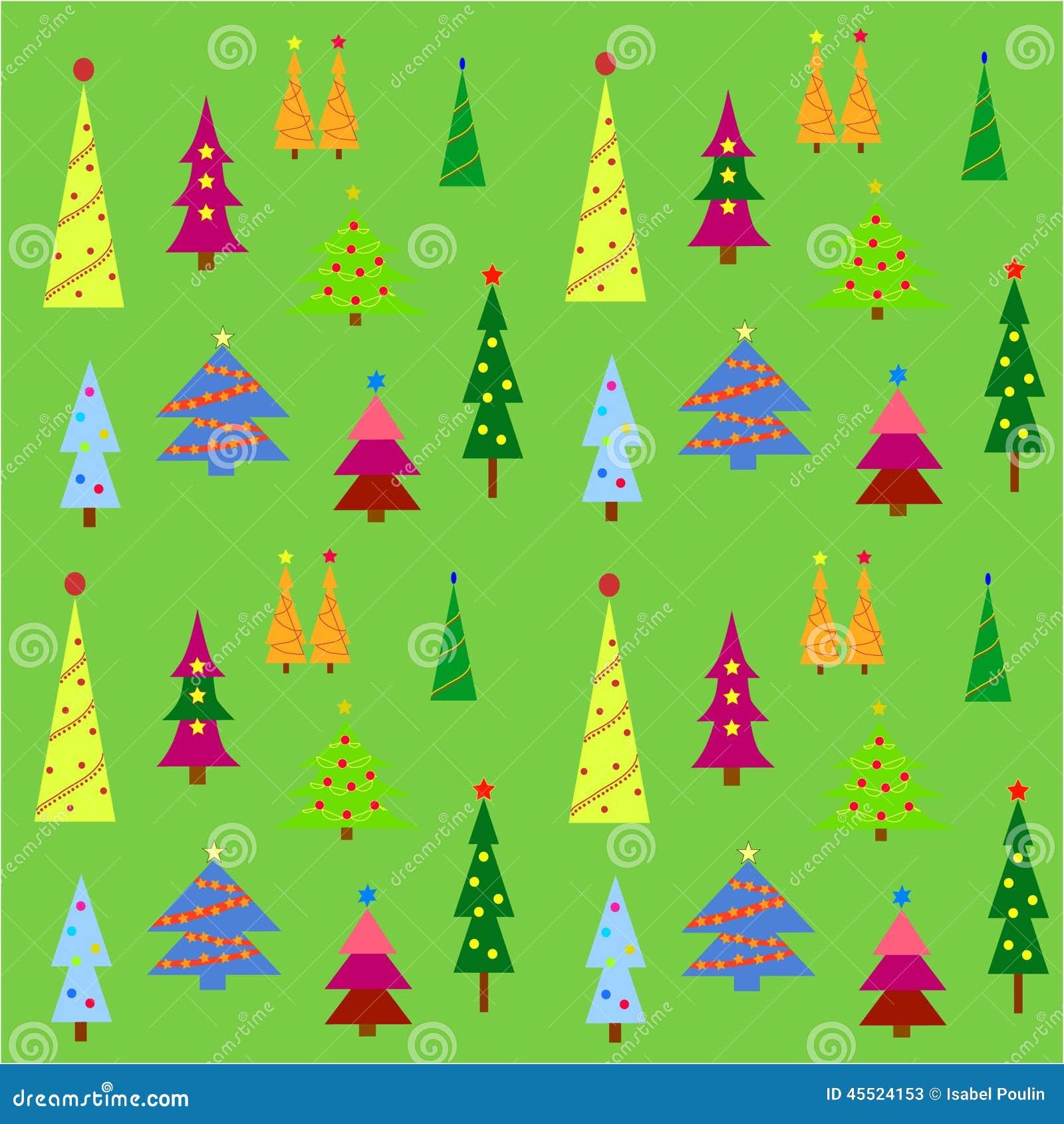 Piękne Święta drzew ilustracyjni położenie