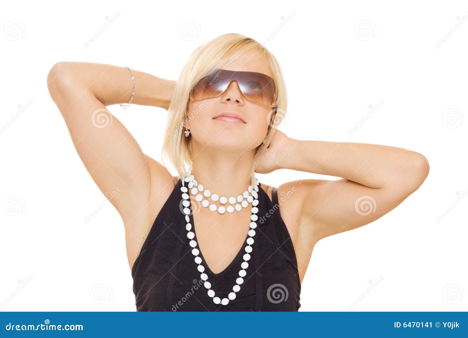 Piękne dziewczyny okularów słońce
