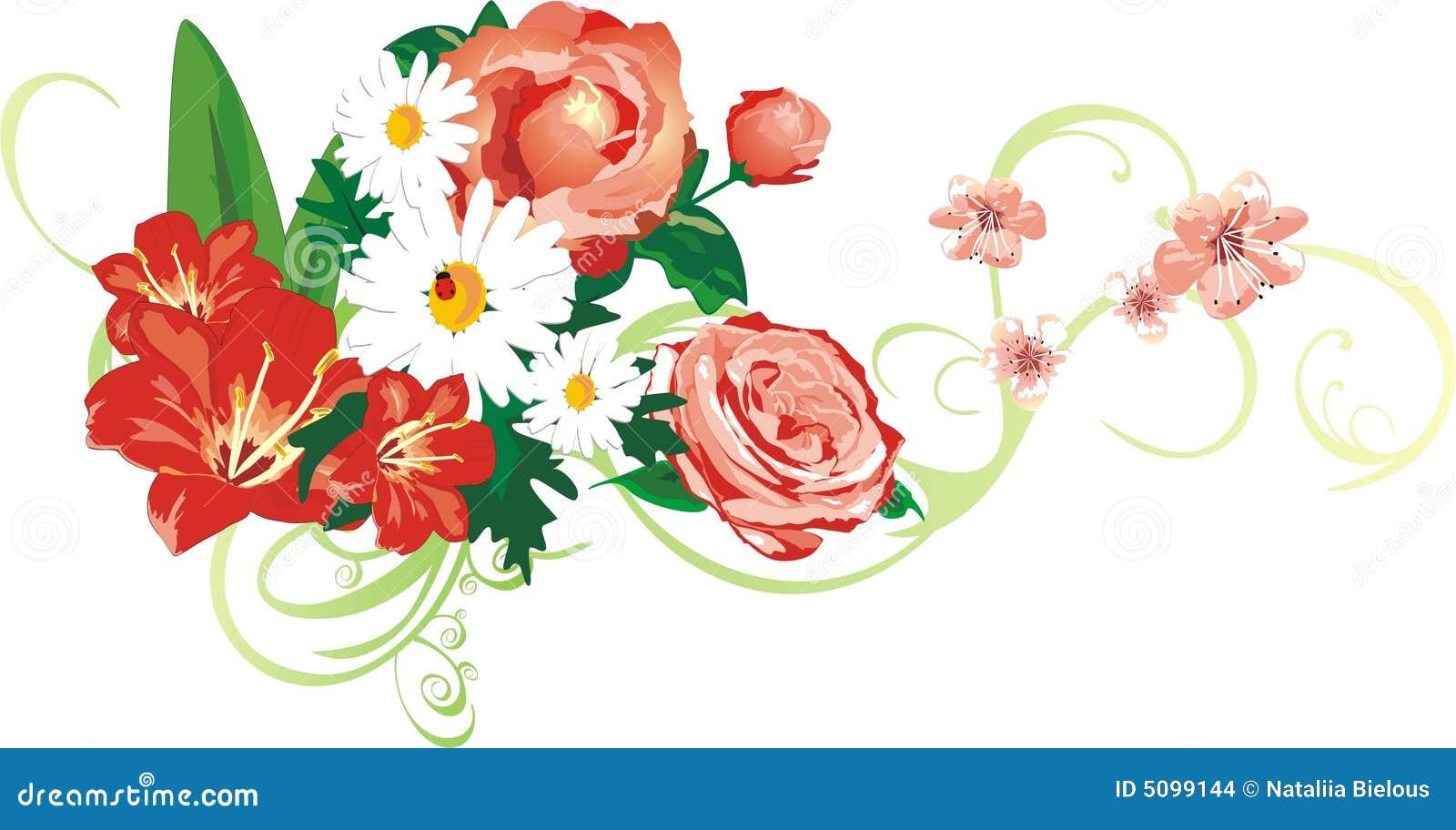 Piękne kwiaty bukietów