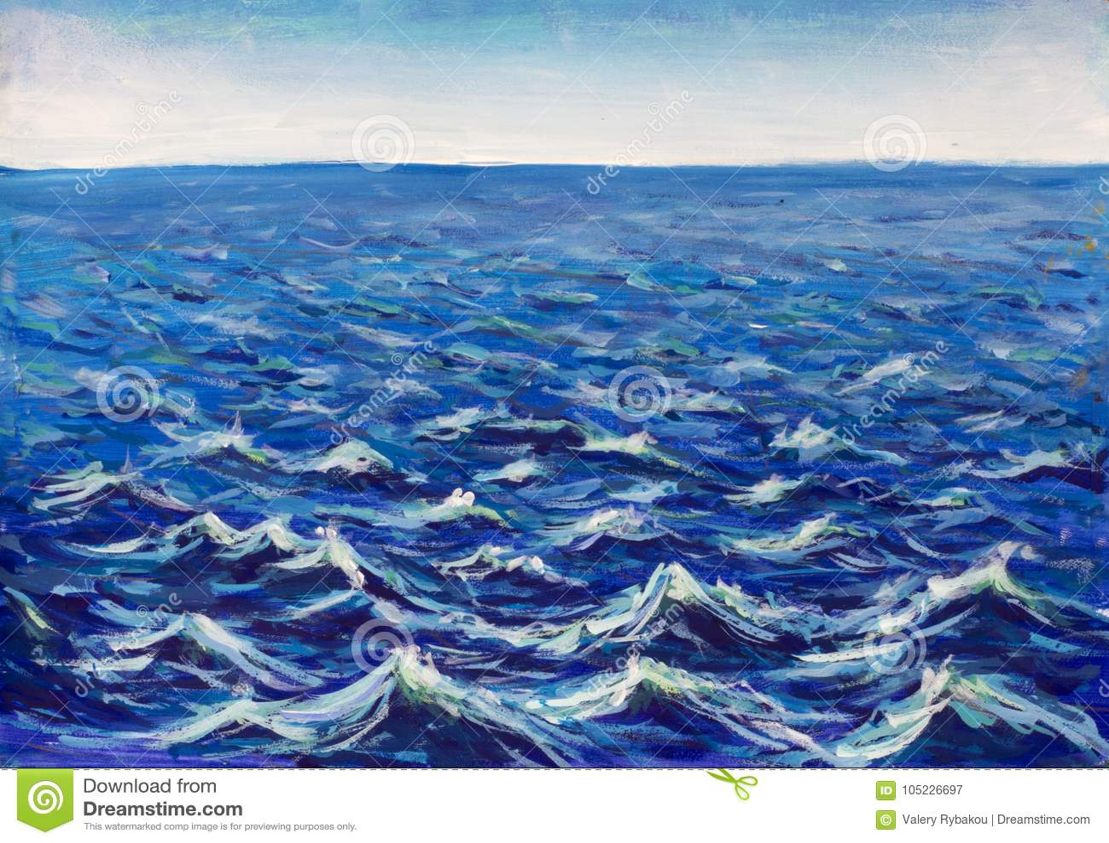 Piękne morze fala Abstrakcjonistyczna turkus fala Morski tło