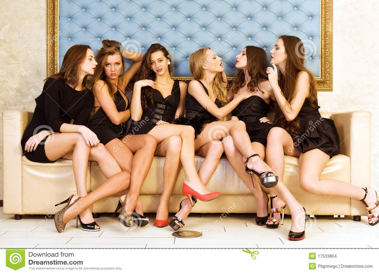 Piękne sześć kobiet