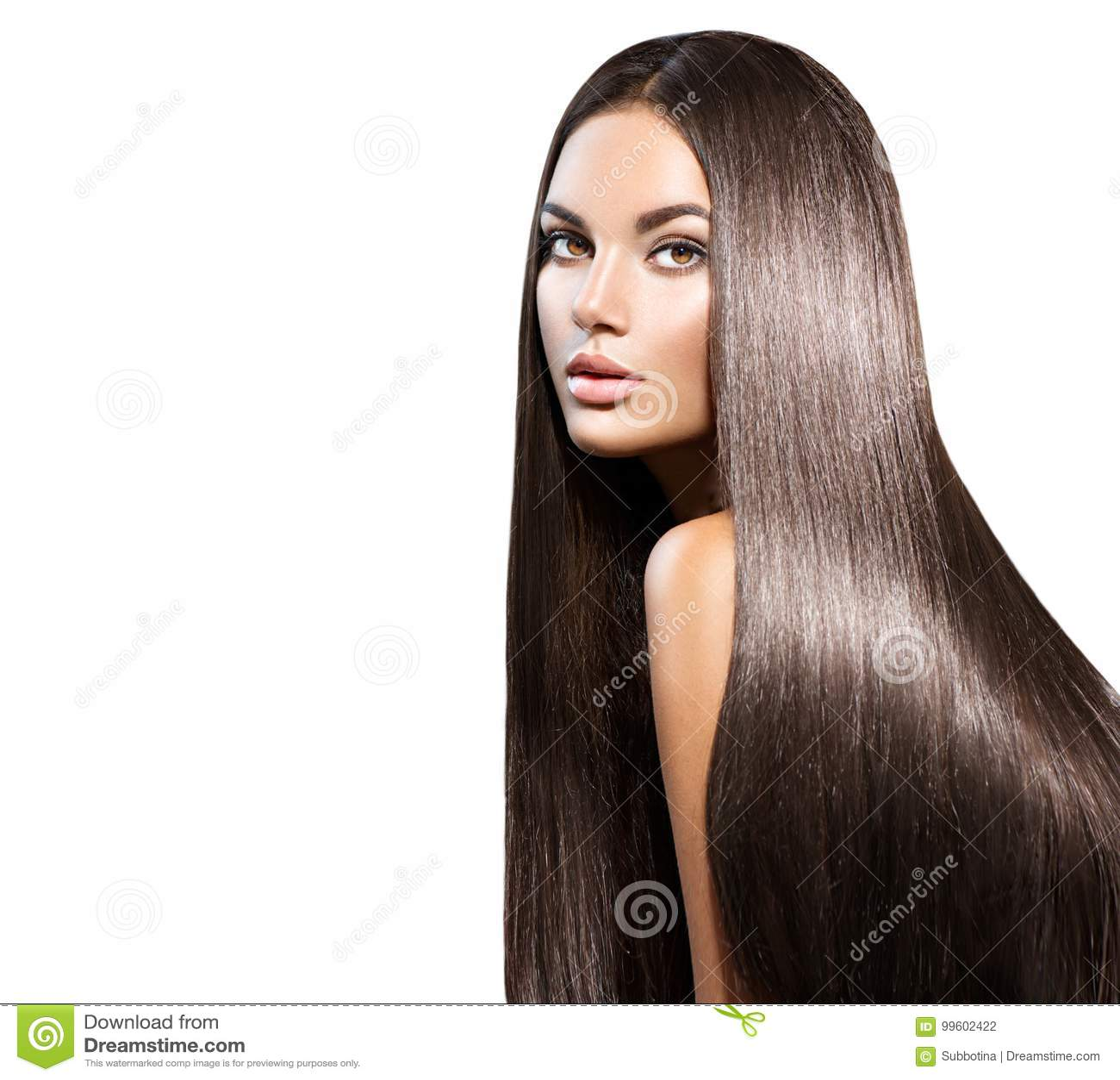 Piękne włosy długie Piękno kobieta z prostym czarni włosy