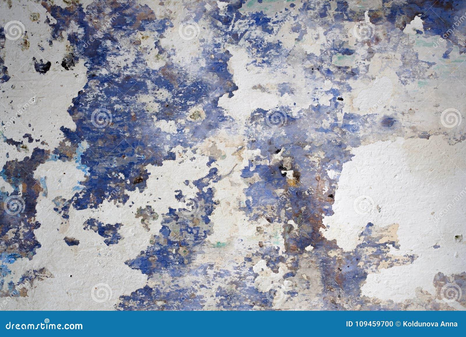 Pięknego Abstrakcjonistycznego Grunge marynarki wojennej błękita bielu ściany Dekoracyjny tło