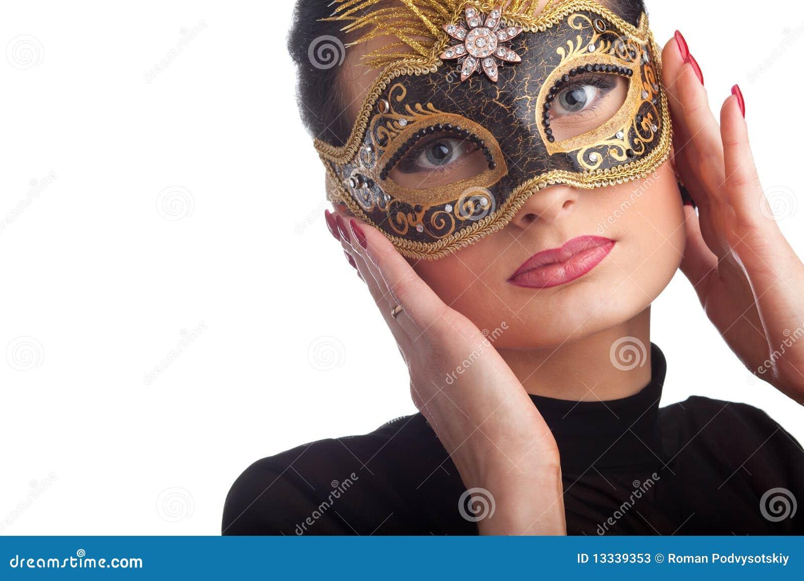 Pięknego karnawału maskowa target1275_0_ kobieta
