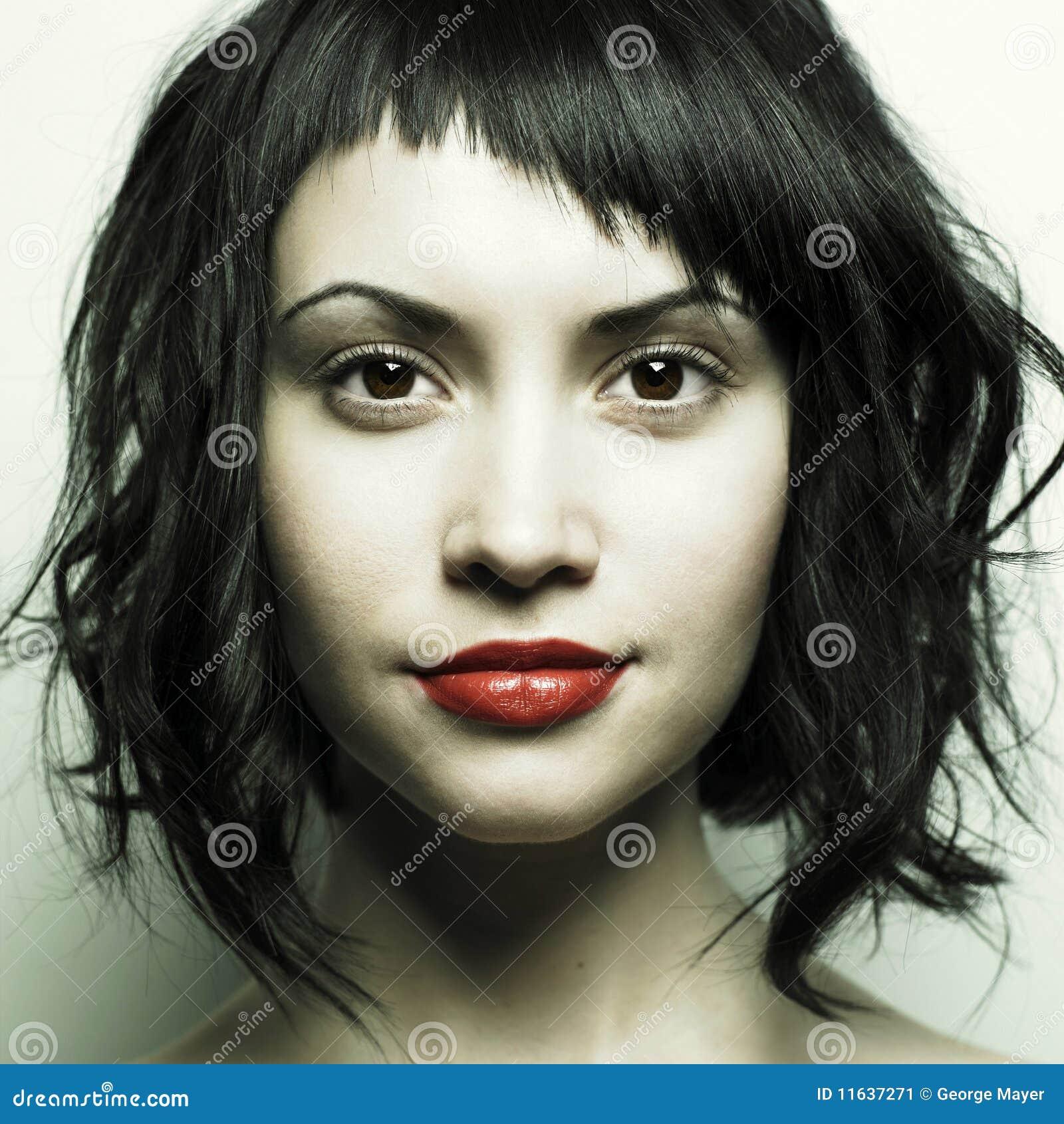 Pięknej fryzury surowi kobiety potomstwa
