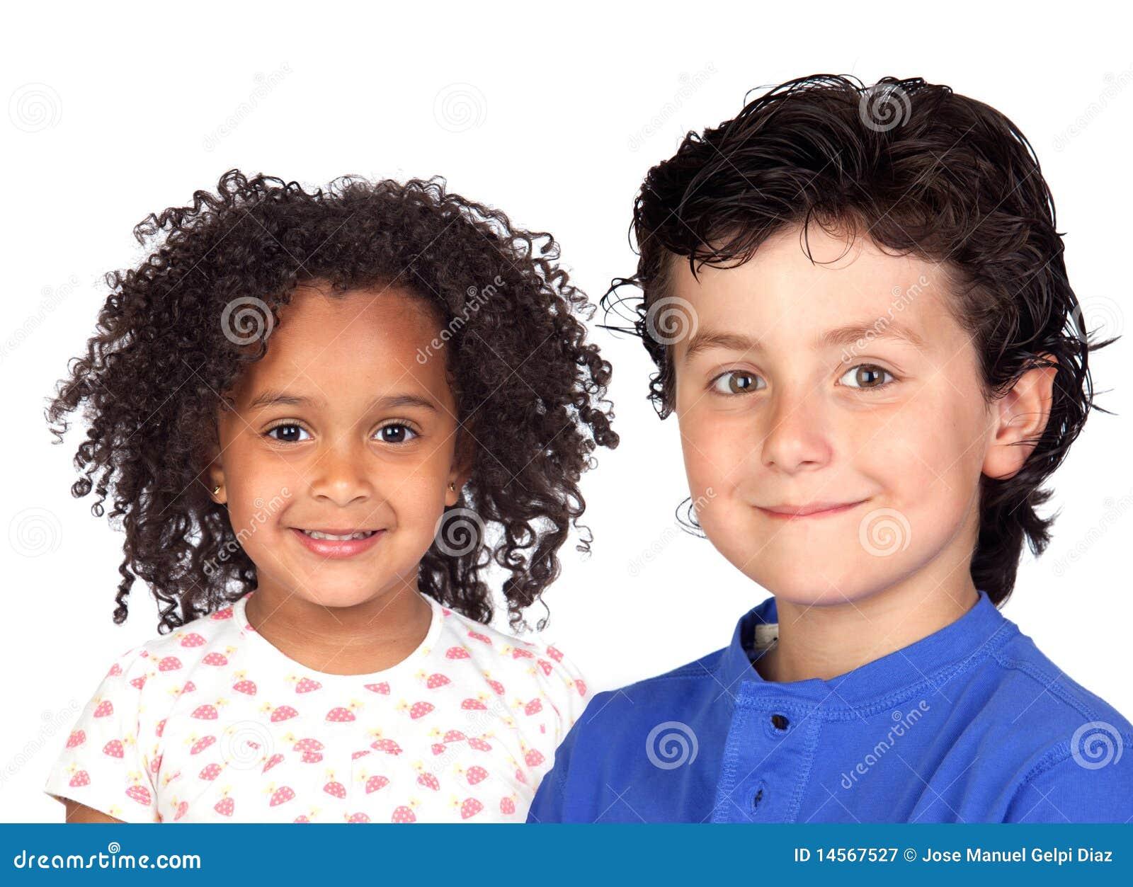 Piękni dzieci dwa