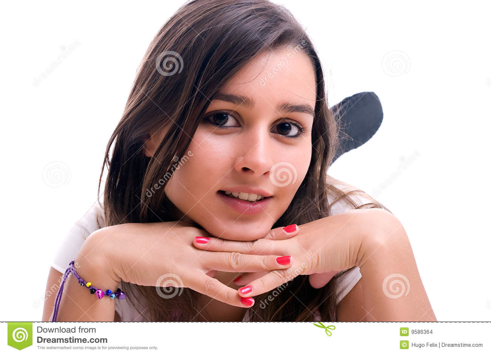 Piękni dziewczyny portreta potomstwa