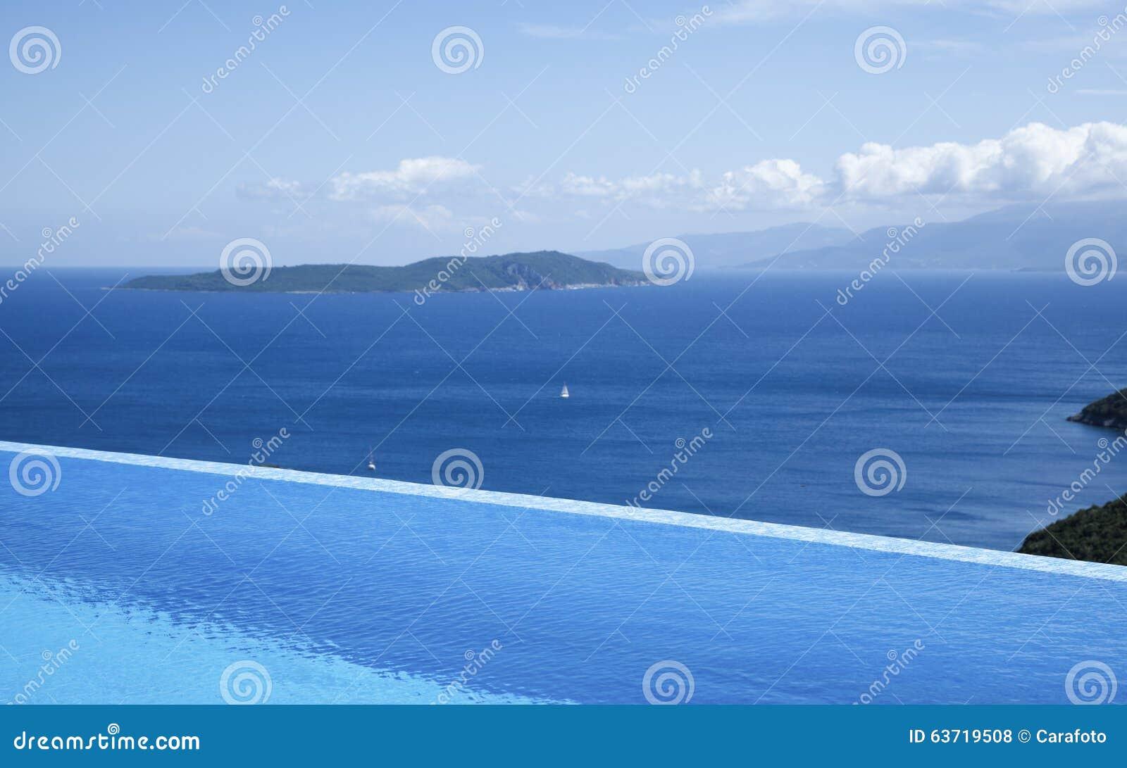 Piękni widoki nieskończoność basen morzem
